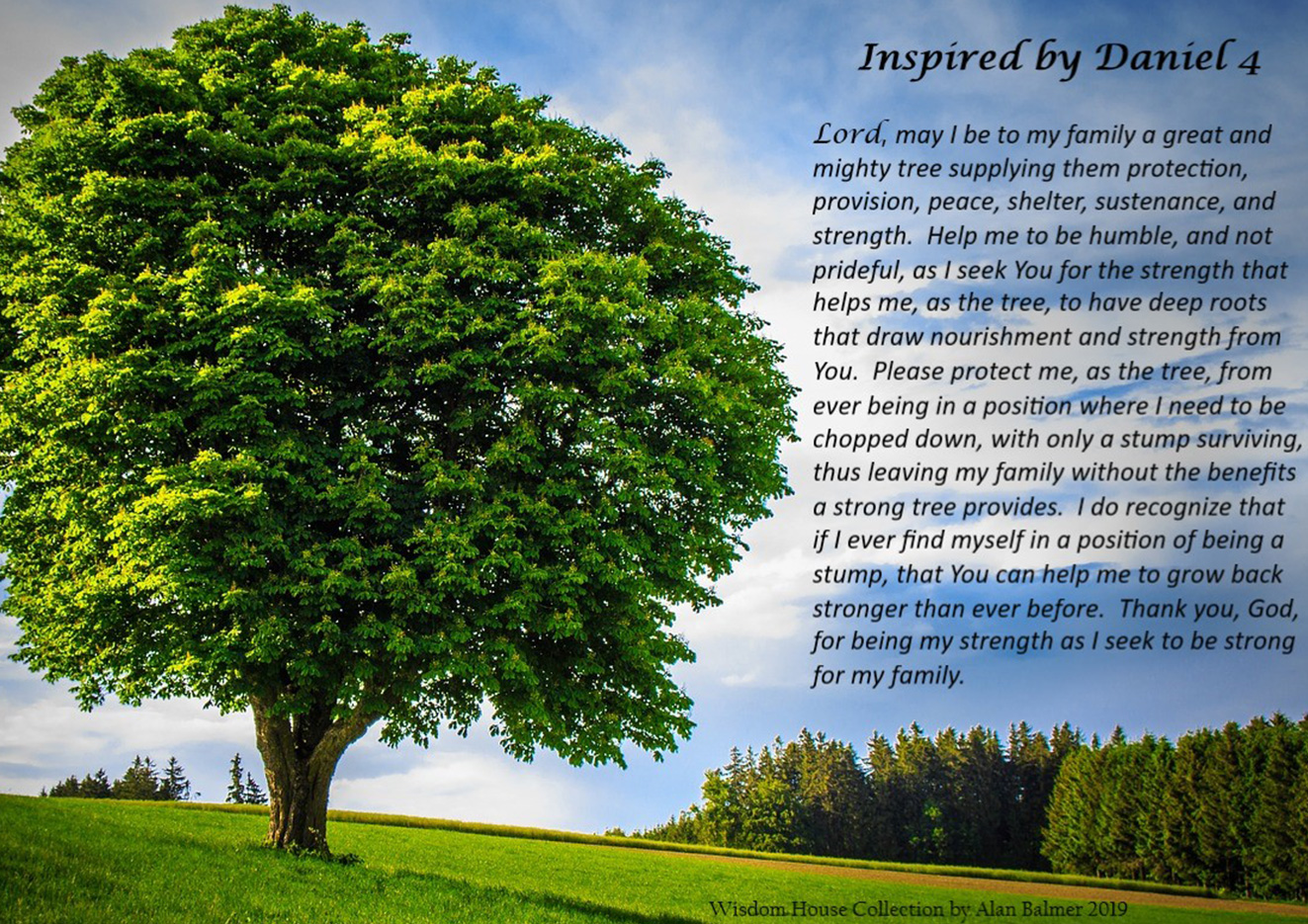 The Family Prayer Based on the Tree from Daniel 4 -