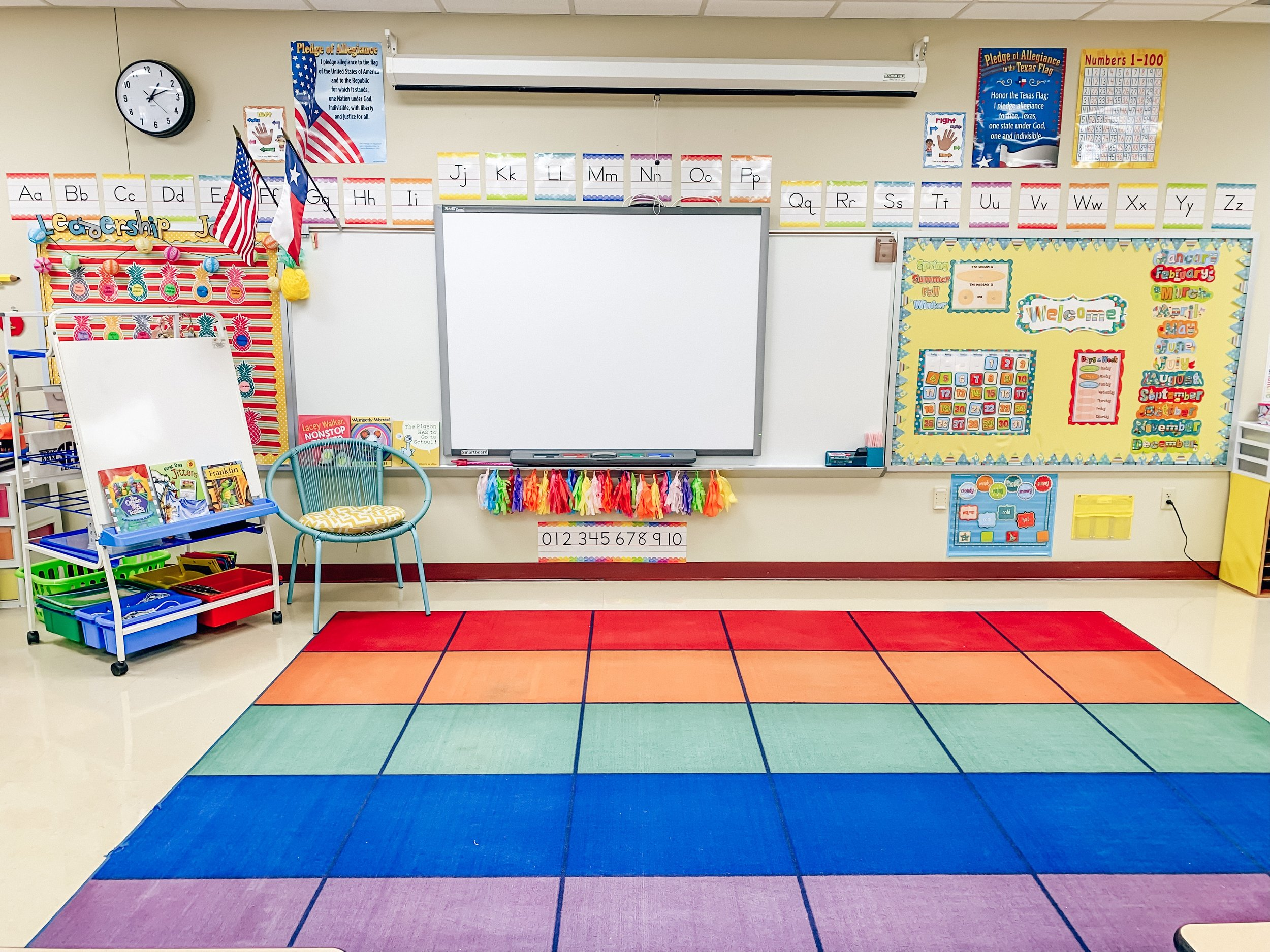This might be my favorite view of the whole room. This carpet will soon be a very important place for learning together!