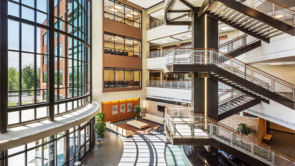 FOOD CITY CORPORATE HEADQUARTERS    Commissioned by the Food City grocery store chain, MHM designed a new corporate headquarters and service center on the site of an abandoned hospital facility in Abingdon, Virginia.