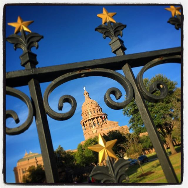 Stopped by the Capital for a visit with Susan's cousin, Texas State Representative Myra Crownover yesterday and found out Susan's dad used to mow the lawn there as a boy. One of my favorite spots when we visit Austin. #familytime #Texas #publicservice #lonestar #longhorns