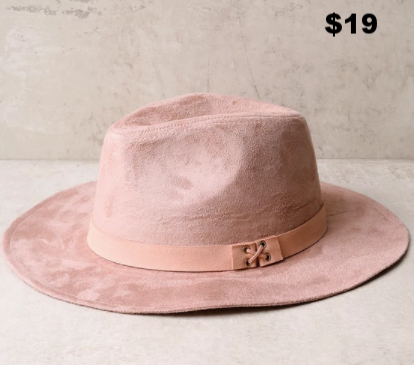 Fav Fedora - I love a fedora for super early flight or travel times...hats are such a time and sleep saver and are an easy way to look cool quick:)  This one here is from Lulu's and is totally  Lady Gaga vibes.  Get it here...
