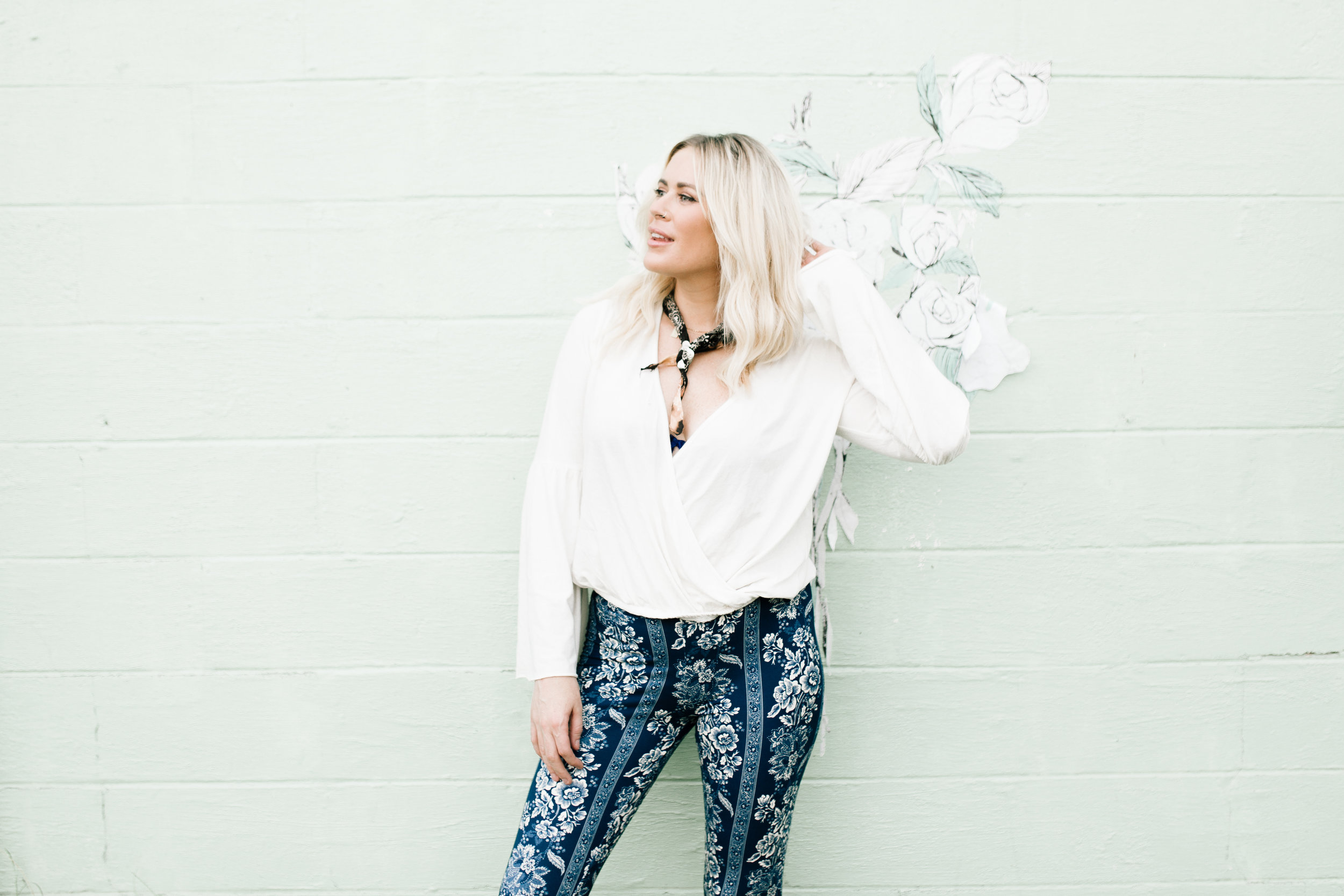 There is only one pair of these floral bells left in store and at KittyNashville.com