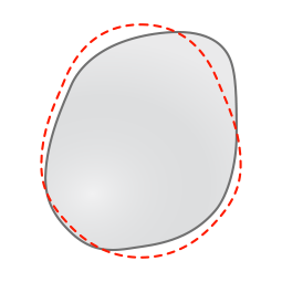 Orthomerica STARband Plagiocephaly Flat Head Syndrome head shape red dotted line normal - top.png