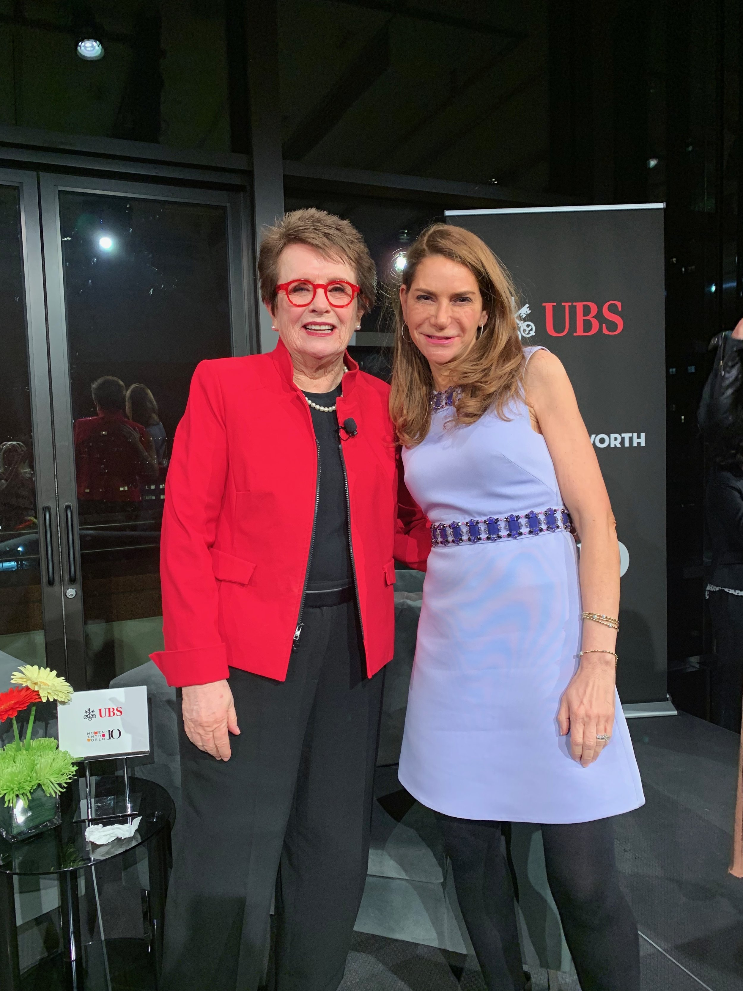 Billie Jean King and Me at the Women in the World 2019 Summit UBS Dinner