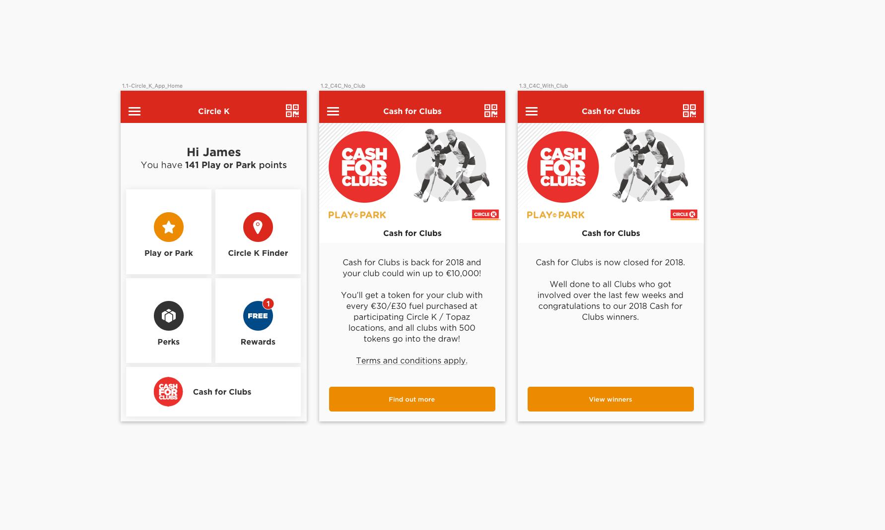 Circle K – App & Website Designs — Stephen-Willis