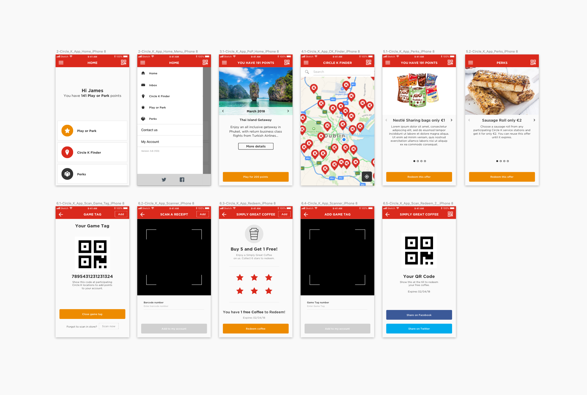 Circle K – App & Website Designs — Stephen-Willis