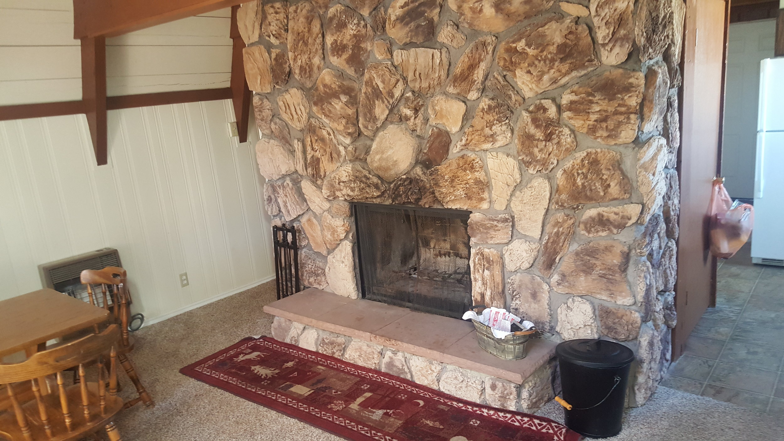 Livingroom-Wood Fireplace