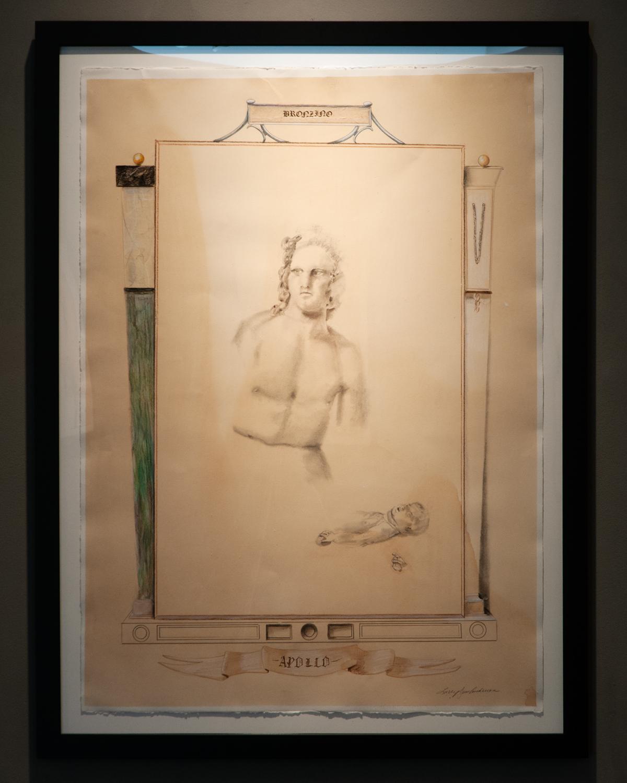 Apollo graphite, colored pencil, brown ink on paper 47.5 x 35.5 inches LJA 175G
