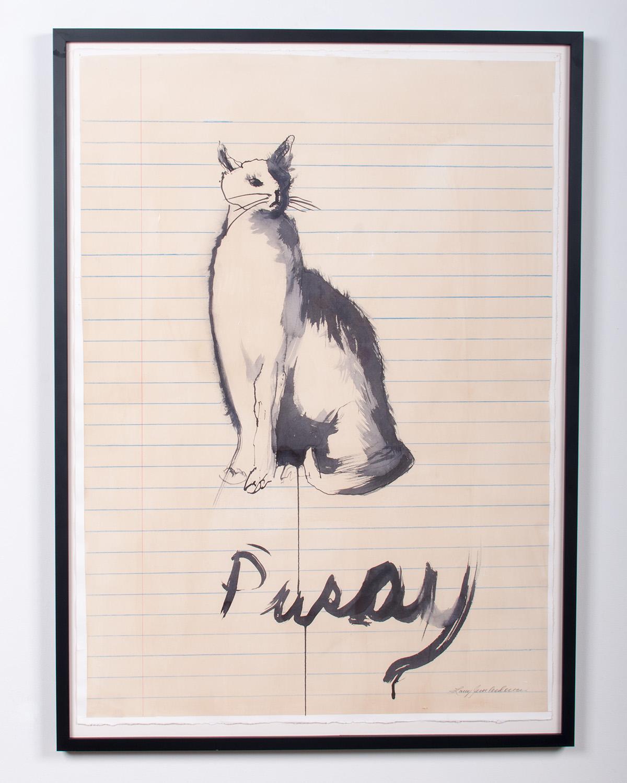 Pusay ink, colored pencil, watercolor 44.25 x 32.35 LJA 158G