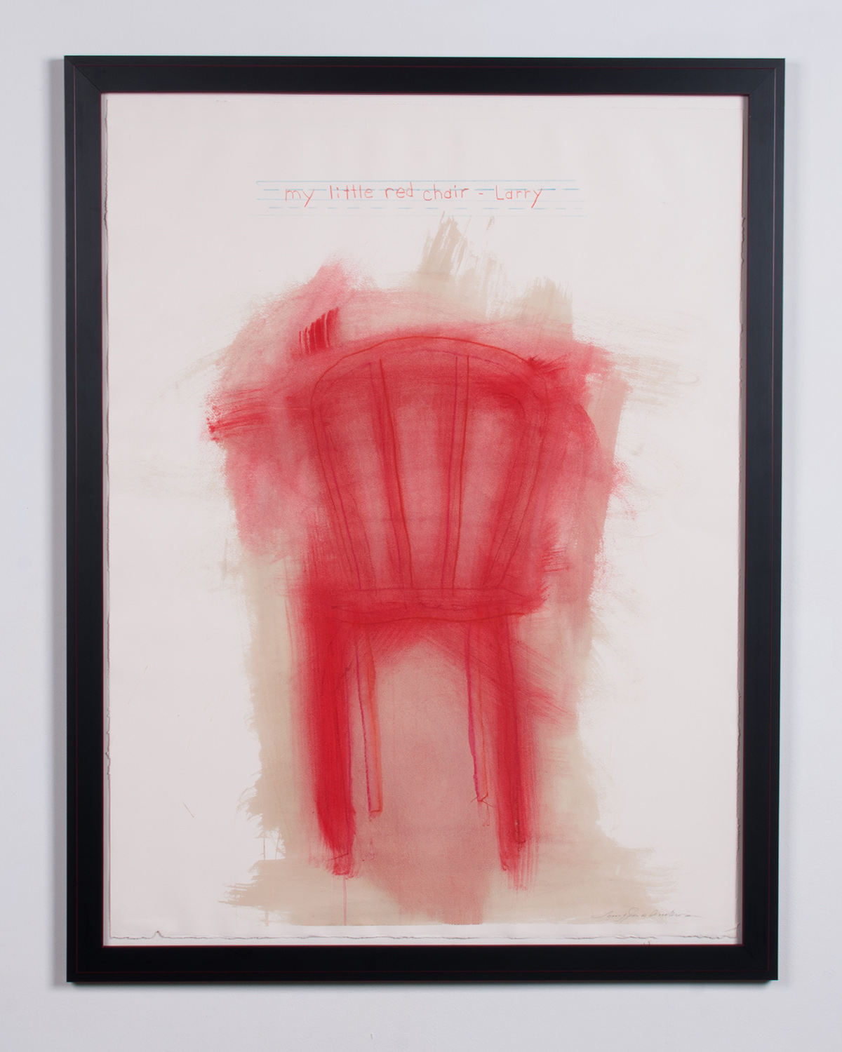 Red Chair acrylic, prisma pencil on Rives BFK 45.5 x 33.5 LJA 151G