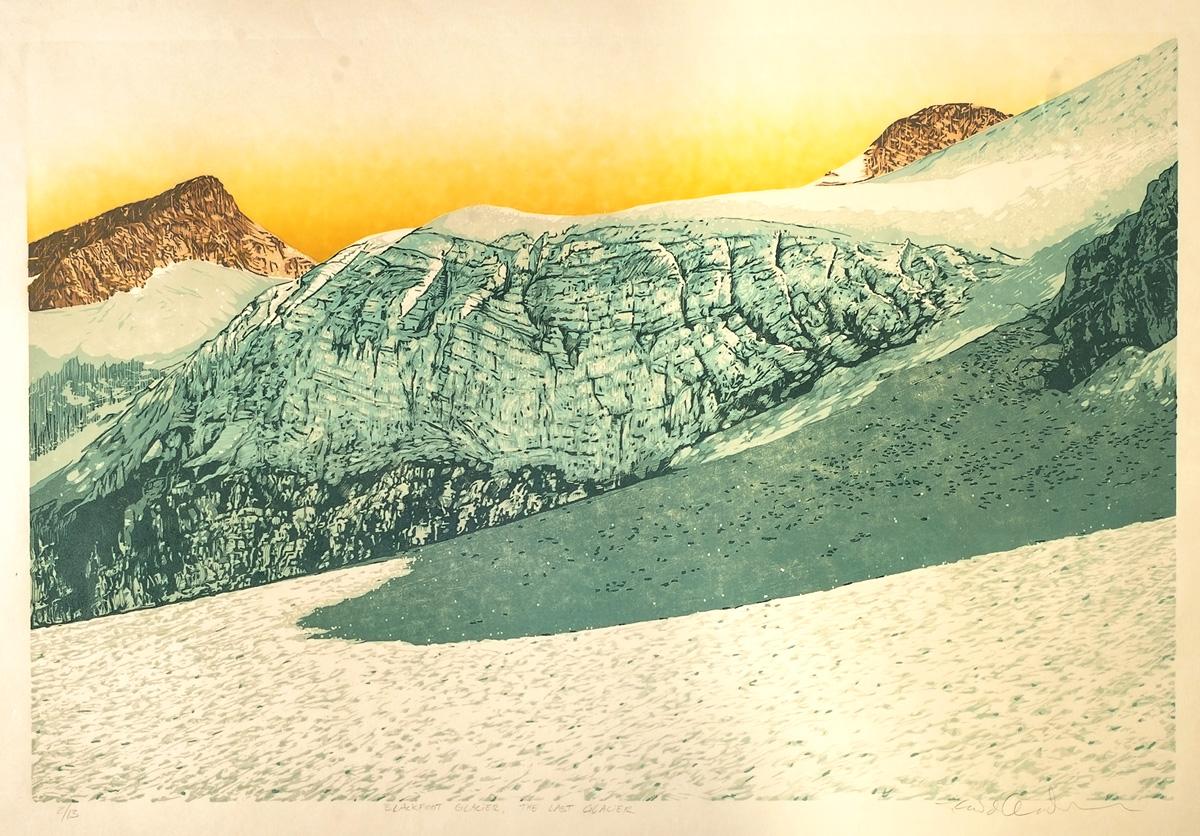 Blackfoot Glacier - The Last Glacier (Detail)