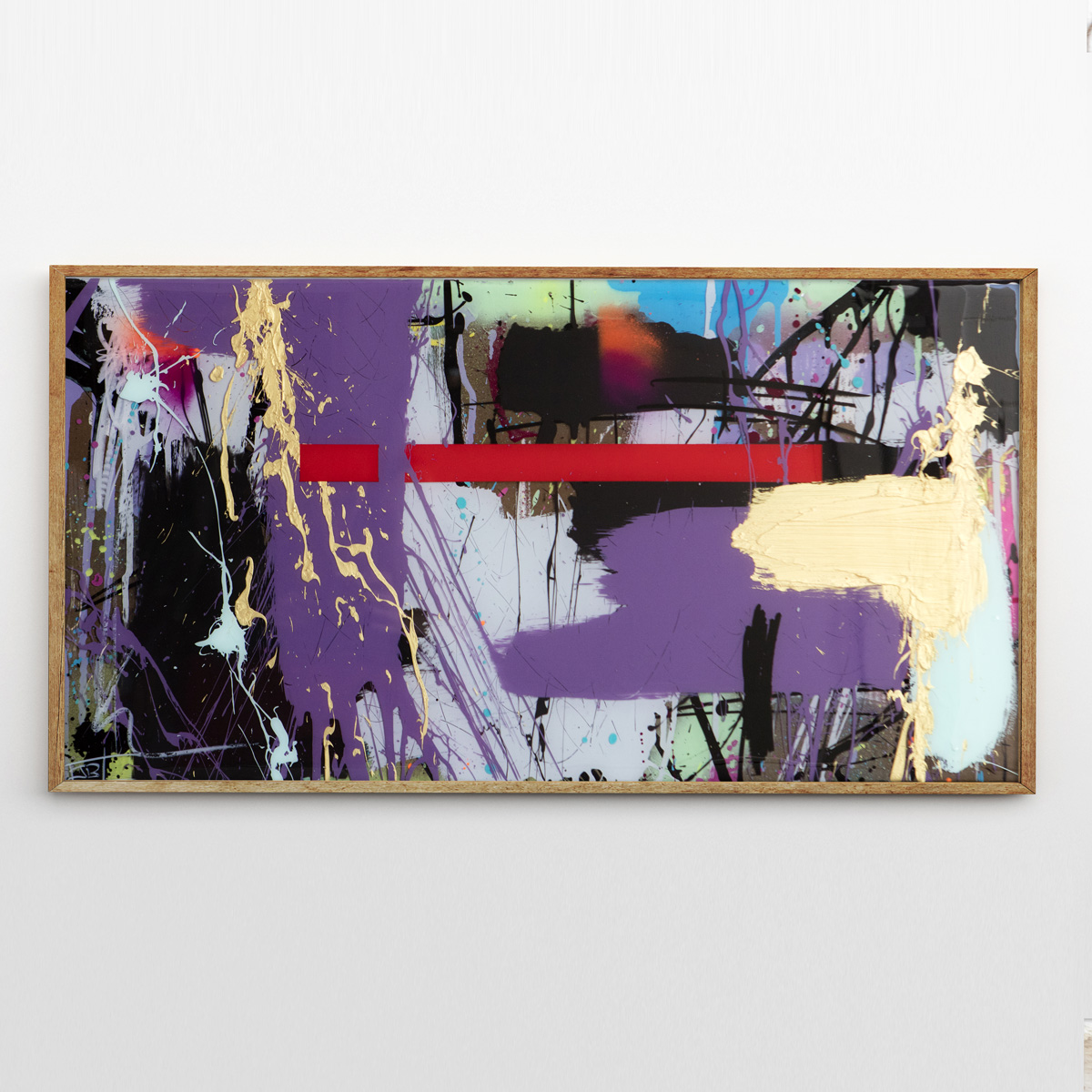 SIMPLICITY mixed media with layered epoxy resin finish 15 x 30 inches JBR 096G