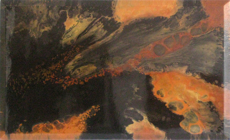 Voyage of the Tangerine mixed media on canvas 36 x 60 inches WDU 009-G
