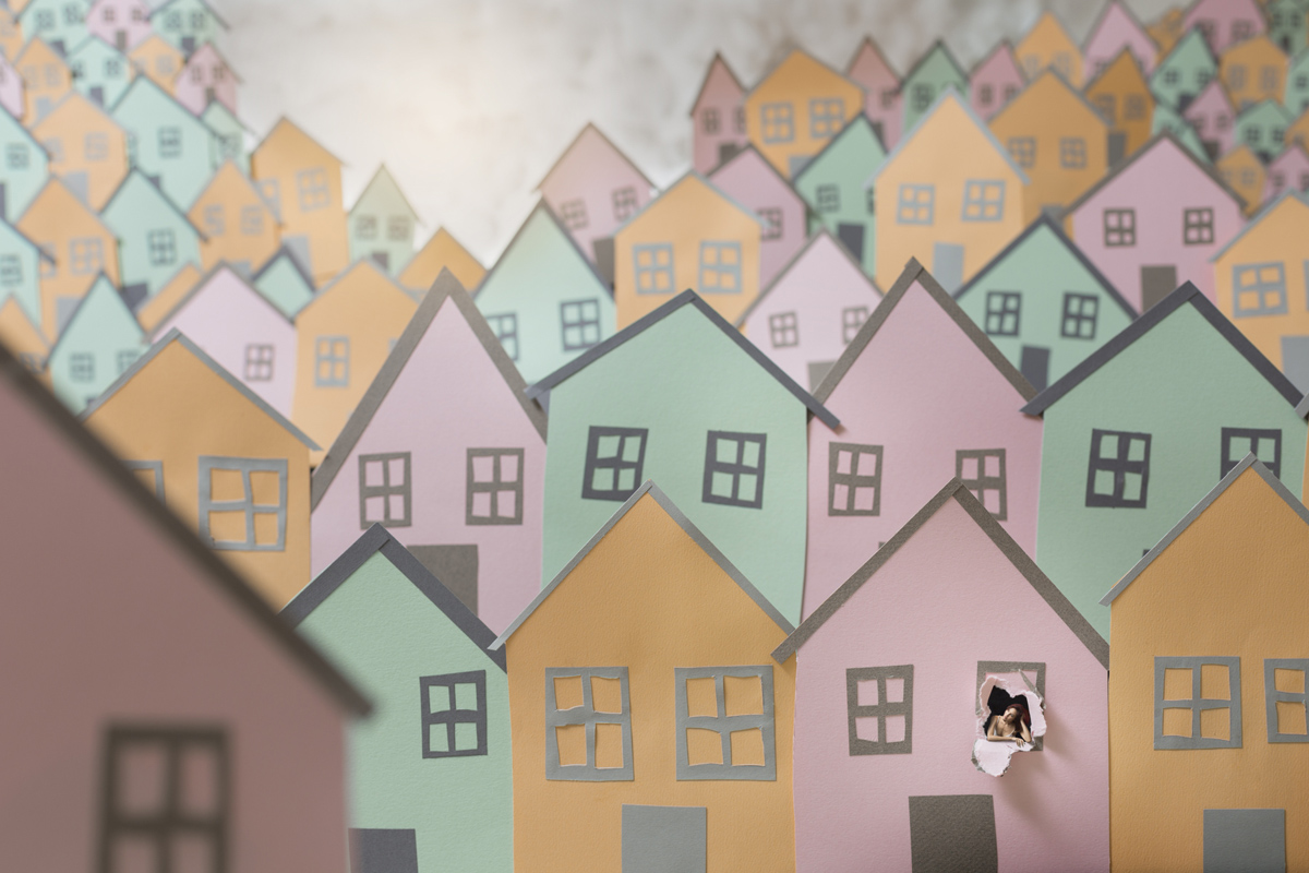 Paper Thin 20 Houses archival pigment print 48 x 36 inches PHE 098G