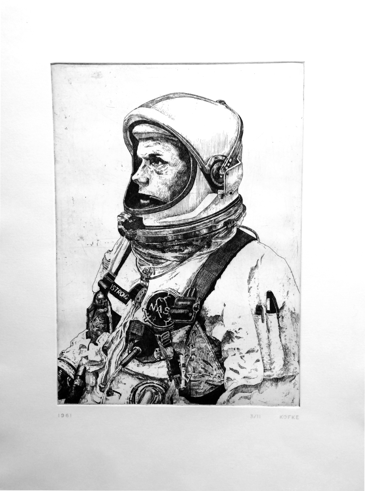 1961 etching edition of 11 22 x 16 inches JKO 056G