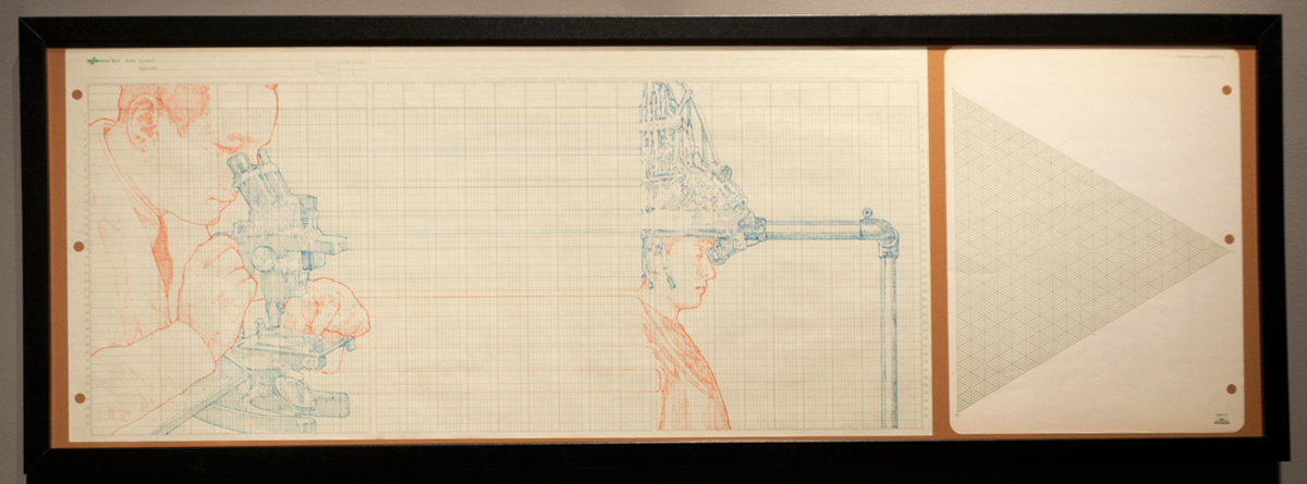 Microscopic Investigation ink on graph paper 36 x 13 inches JKO 083G