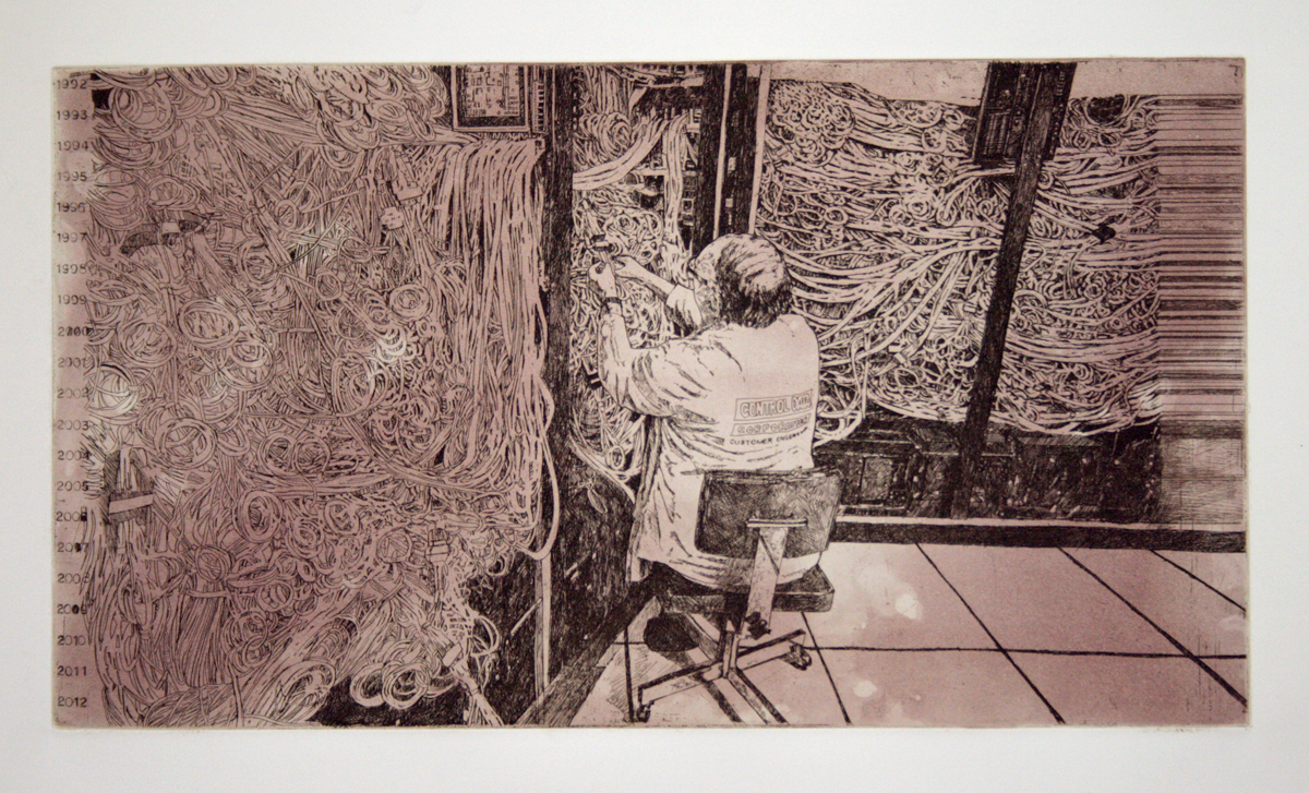 Everything Will Be OK, 1992 etching 26 x 38 inches JKO 003G