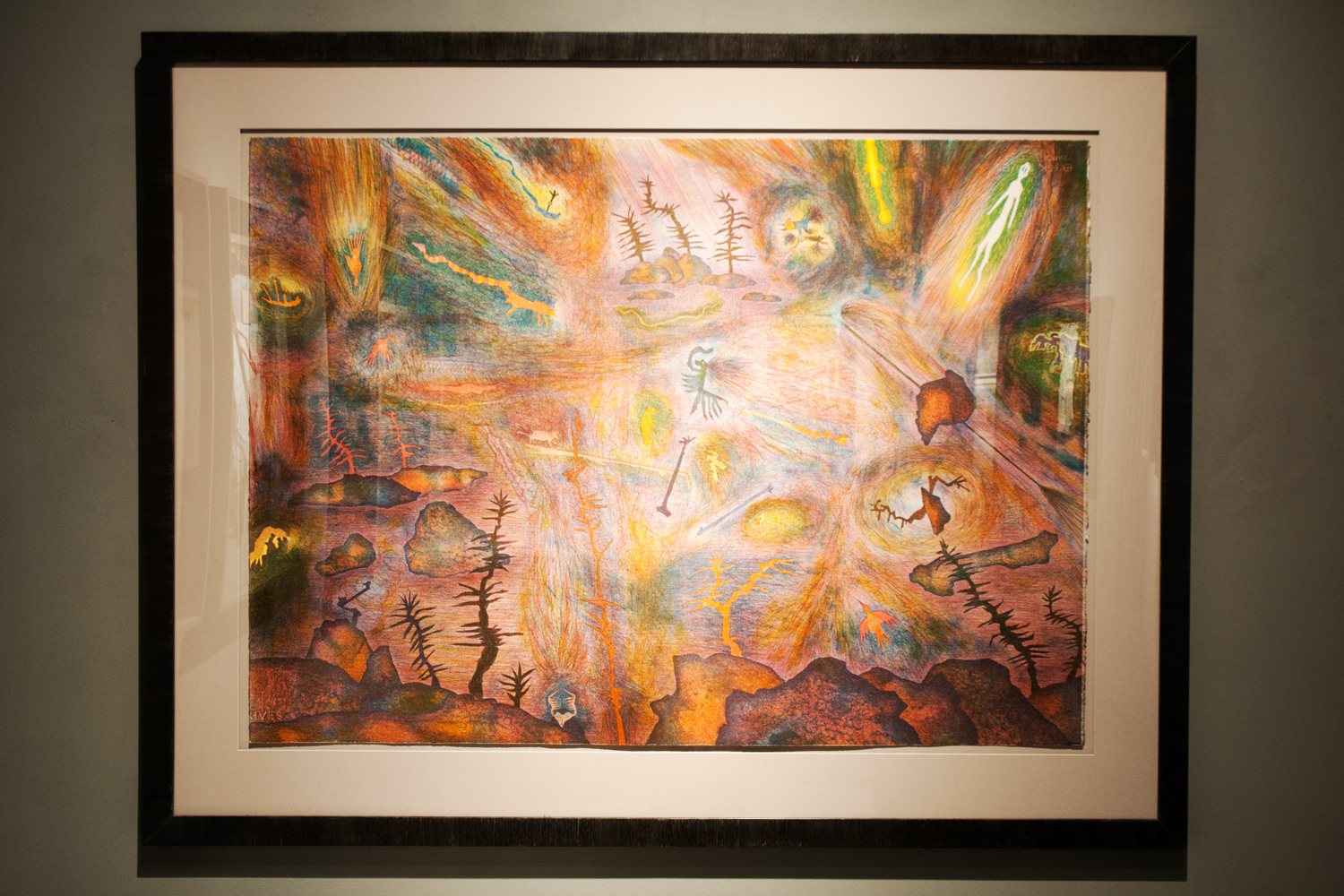 Frenzy Encroachment upon the Earth, 1989, color lithograph, 1989, 41¼ x 51½ inches