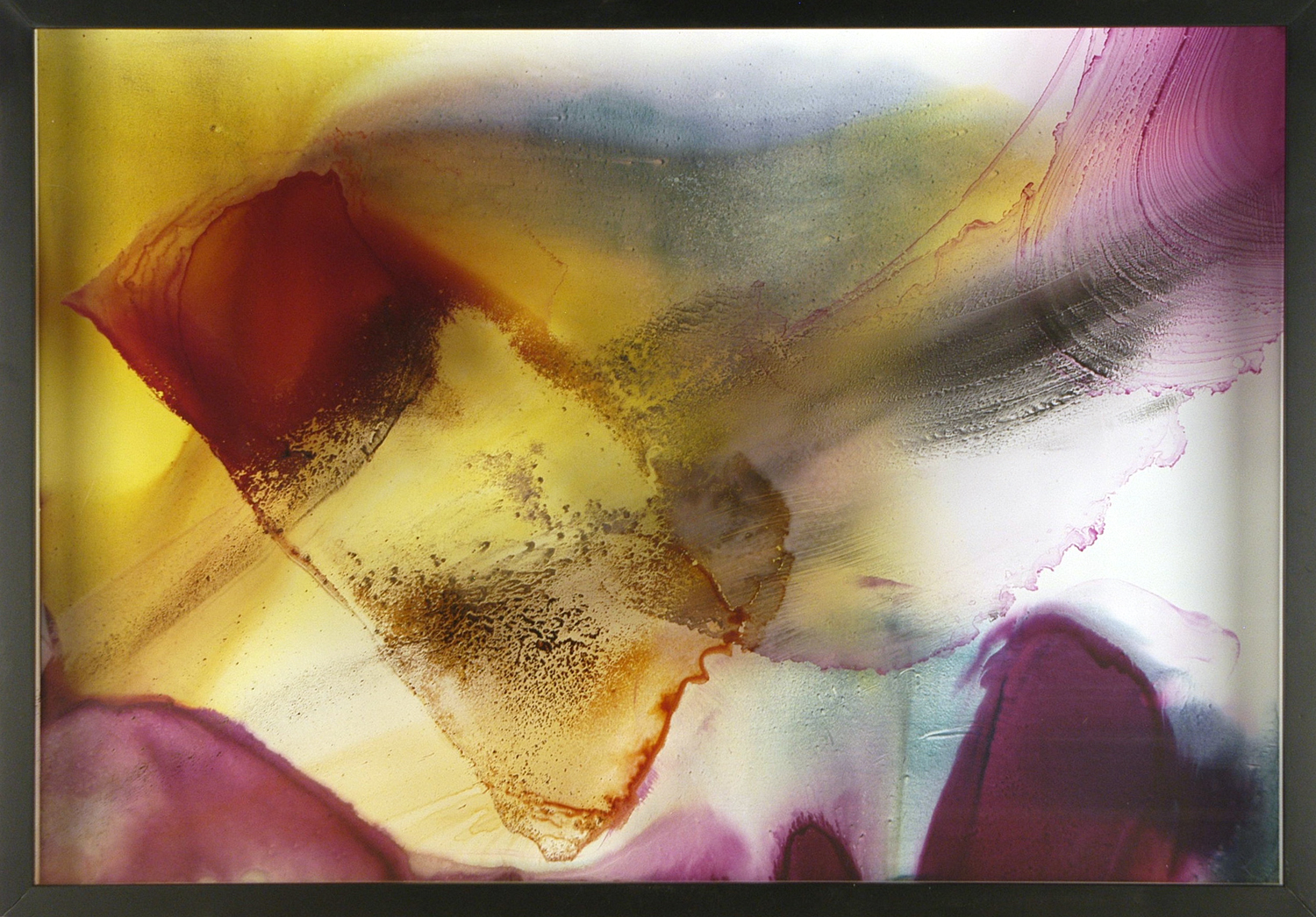 TONE POEM Sumi ink and watercolor on glass and gesso panel 42X29.5 inches