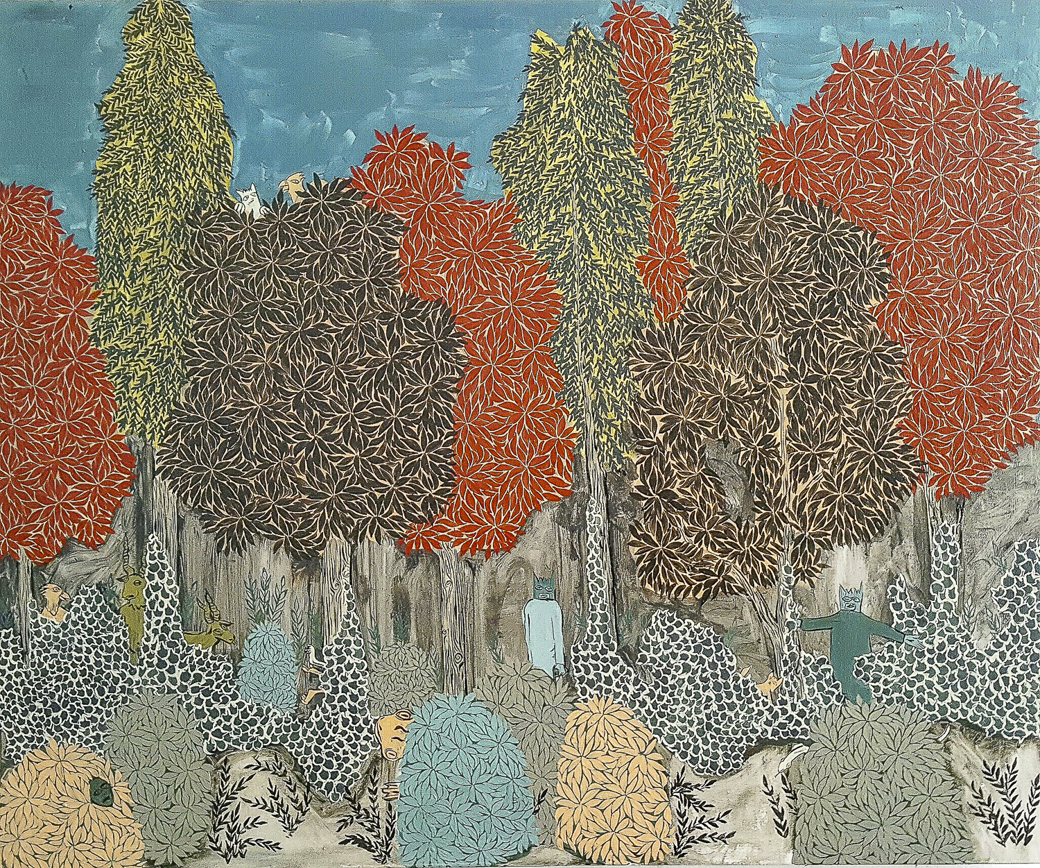 The Tree Line Acrylic and latex paint on muslin 24 x 30 inches ACA011