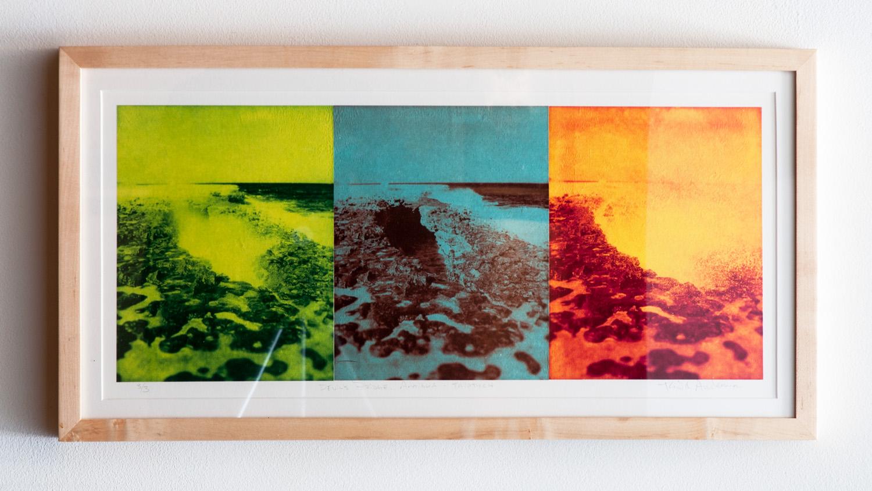 Devil's Bridge, Antigua (Triptych) photopolymer gravures on Okawara Washi paper 24 x 10 inches TAN026