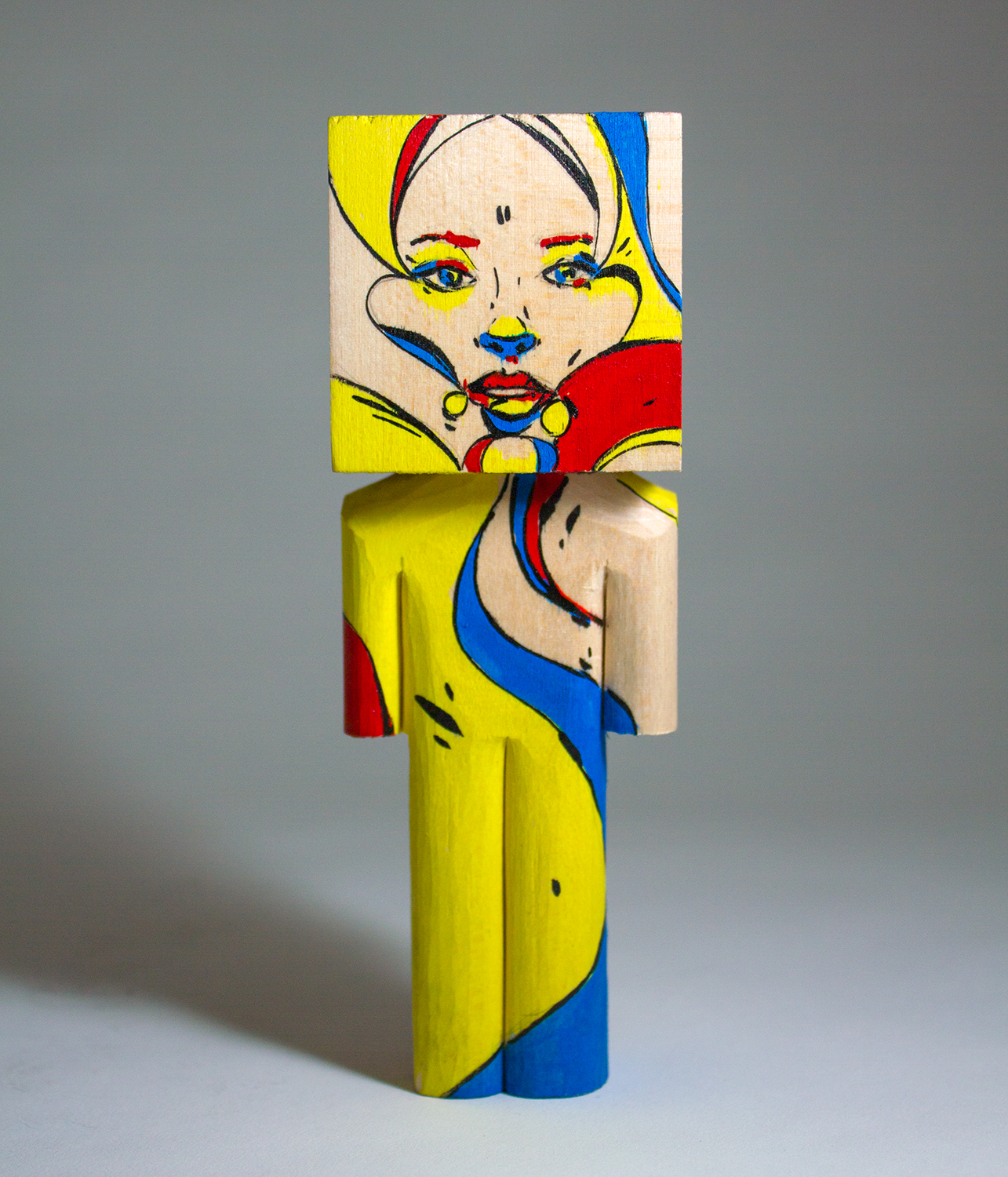Jubilee in collaboration Sanithna wood and acrylic 5.75 x 2 x 2 inches CSK 023G