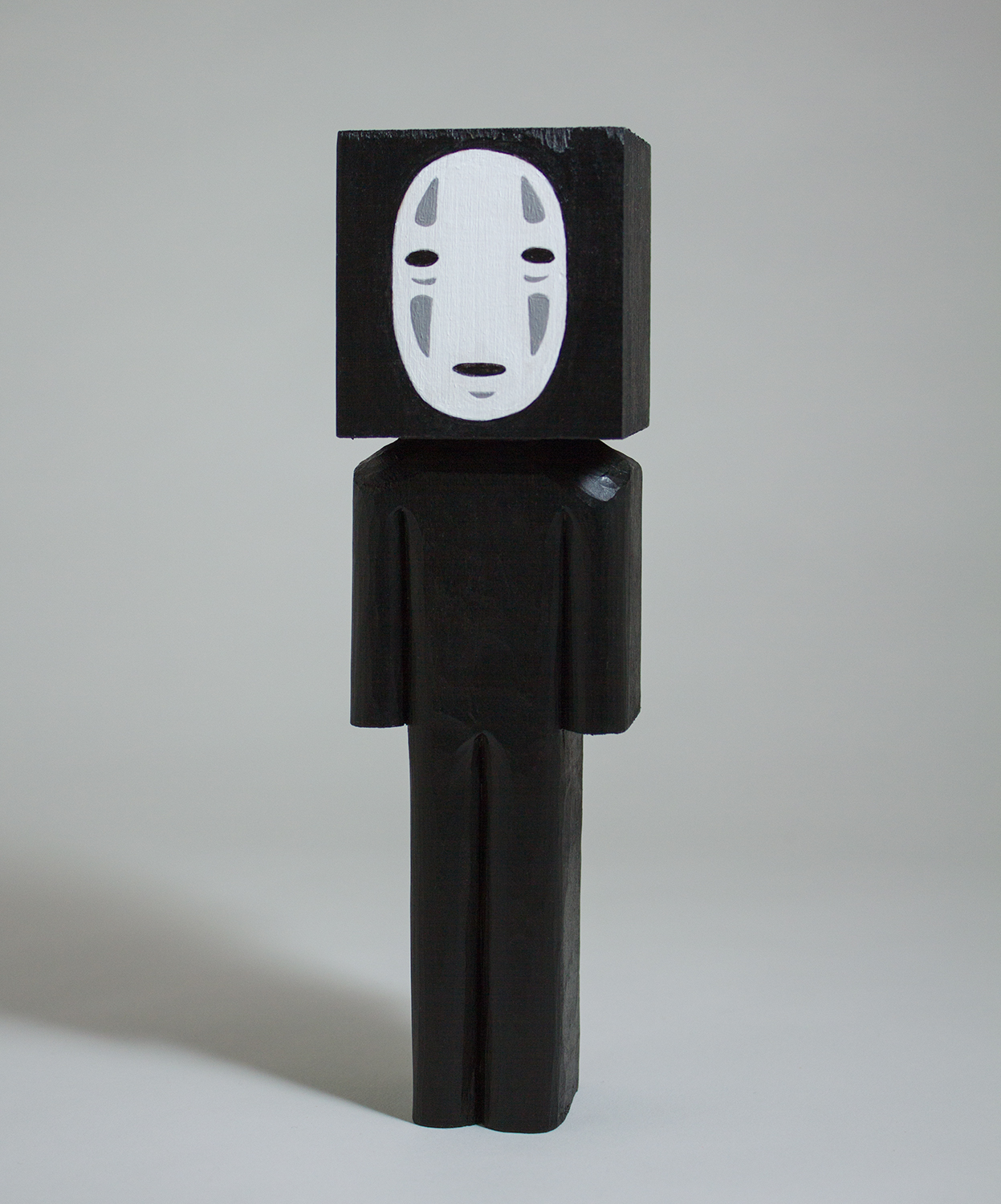 No Face  wood and acrylic 7.5 x 2 x 1.5 inches CSK 020G