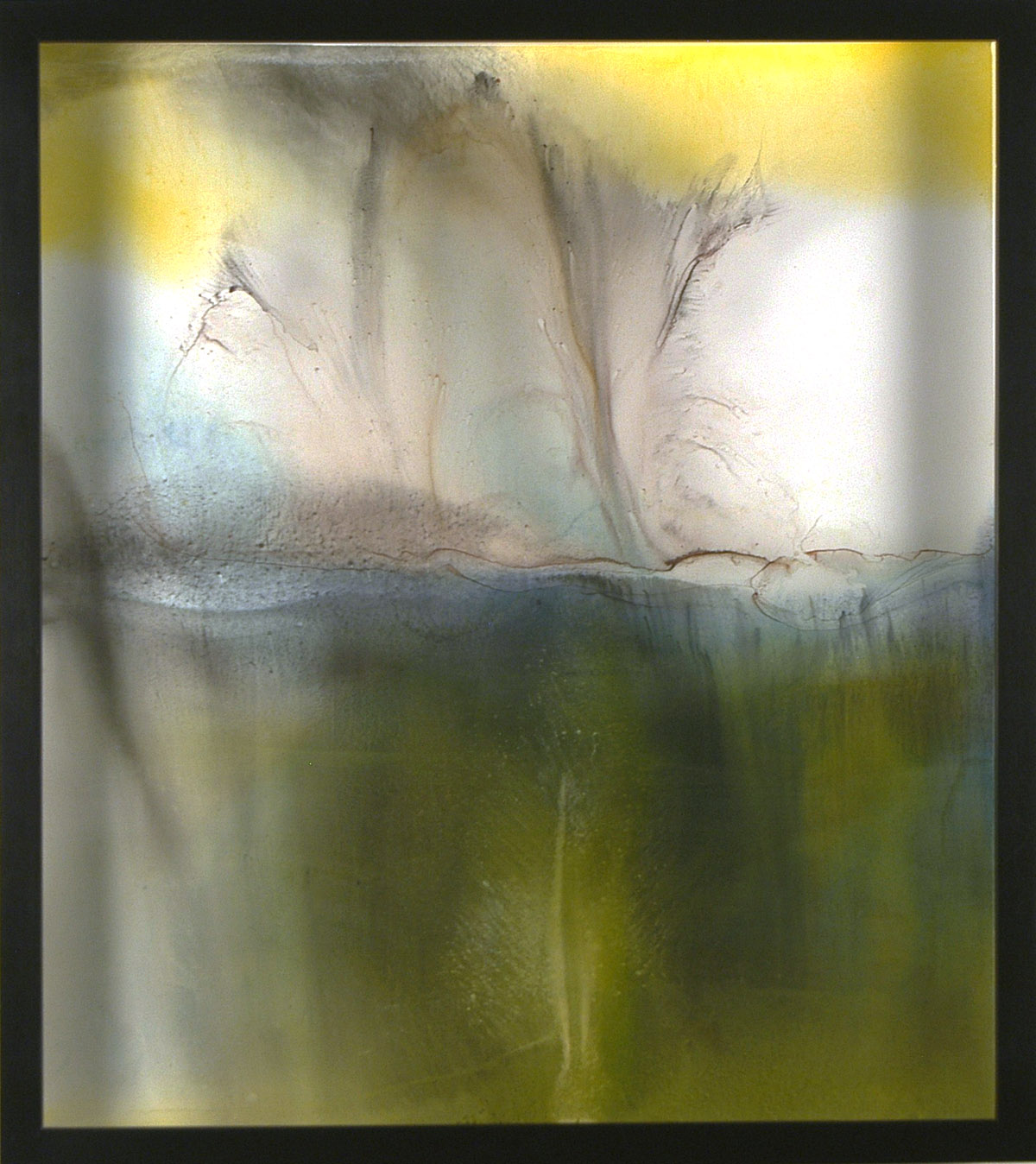 Jamaica Falls sumi ink and watercolor on glass and gesso panel 33 x 29 inches ERO 076G