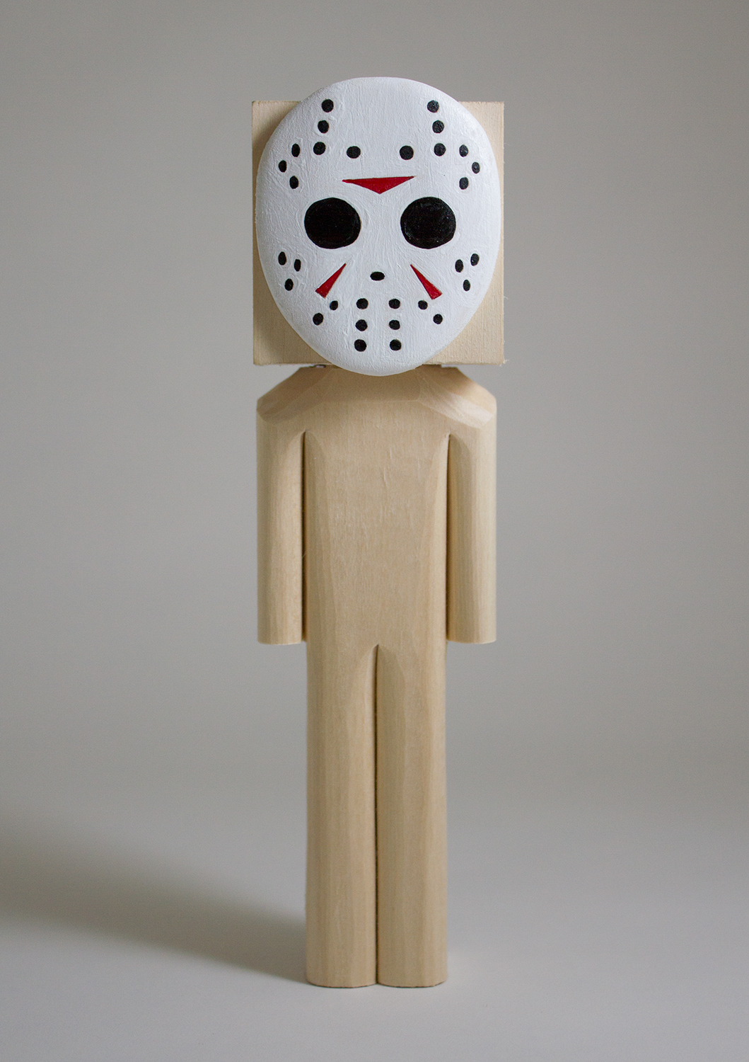 """""""Jason"""" Basswood and Acrylic. 8.25 x 2.25 x 2.5 inches. CSK 010G"""