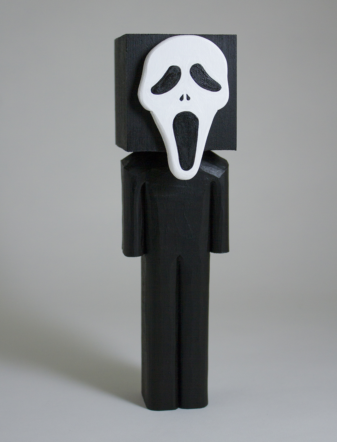 """""""Scream"""" Basswood and acrylic. 7.75 x 2.25 x 2.5 inches. CSK 011G"""