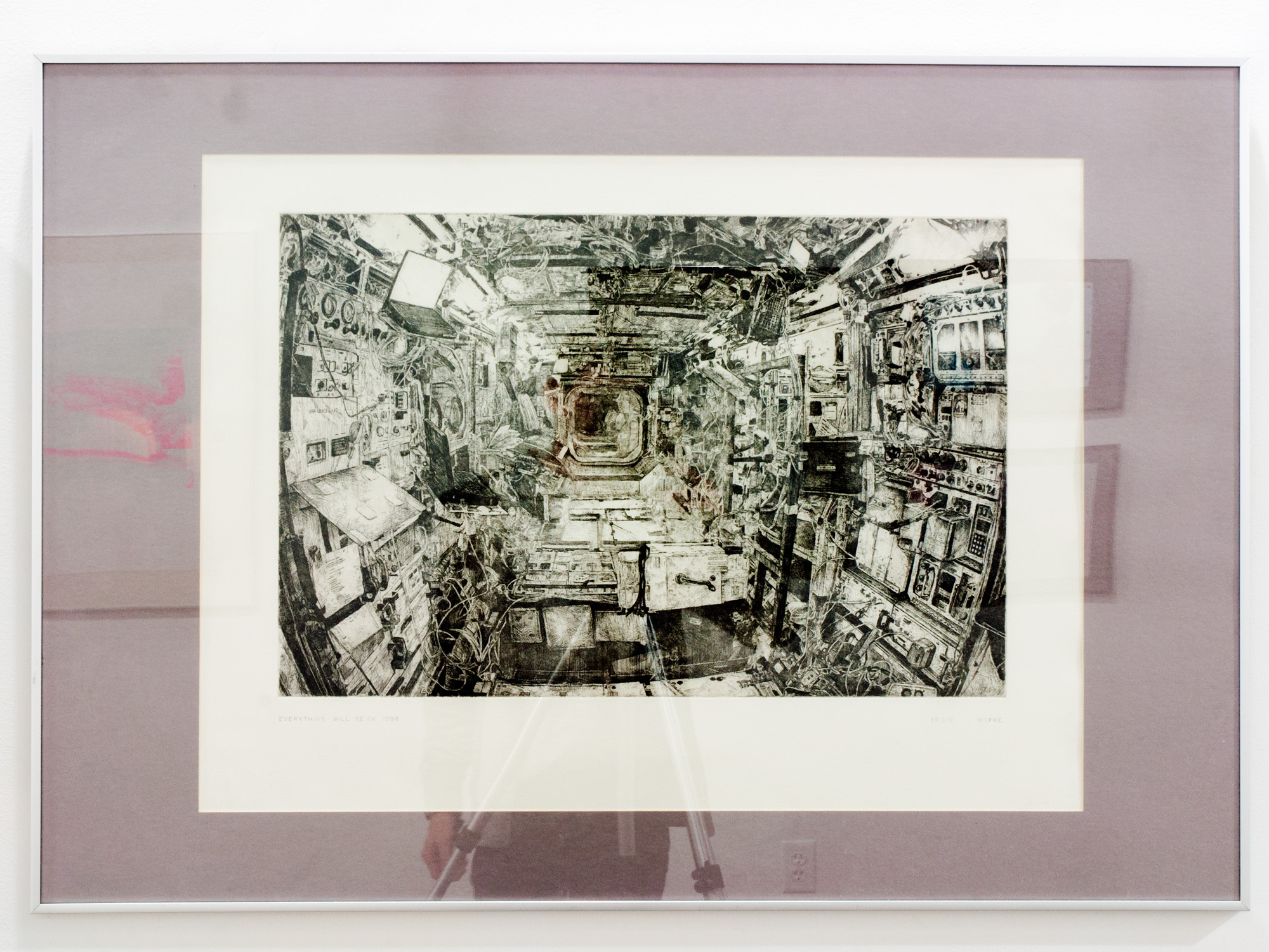 Everything Will Be Ok, 1998 etching 33 x 45 inches JKO 001G