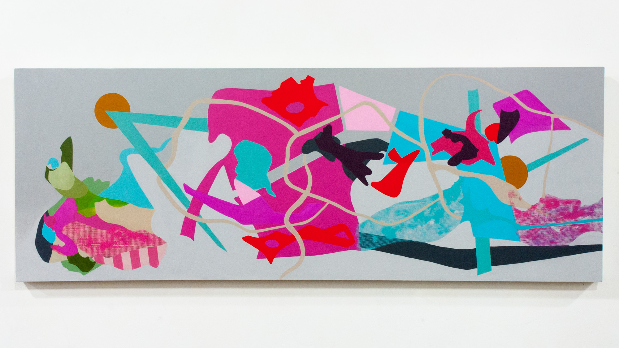 From The Ground Up oil on canvas 28 x 77 inches JCA 046G