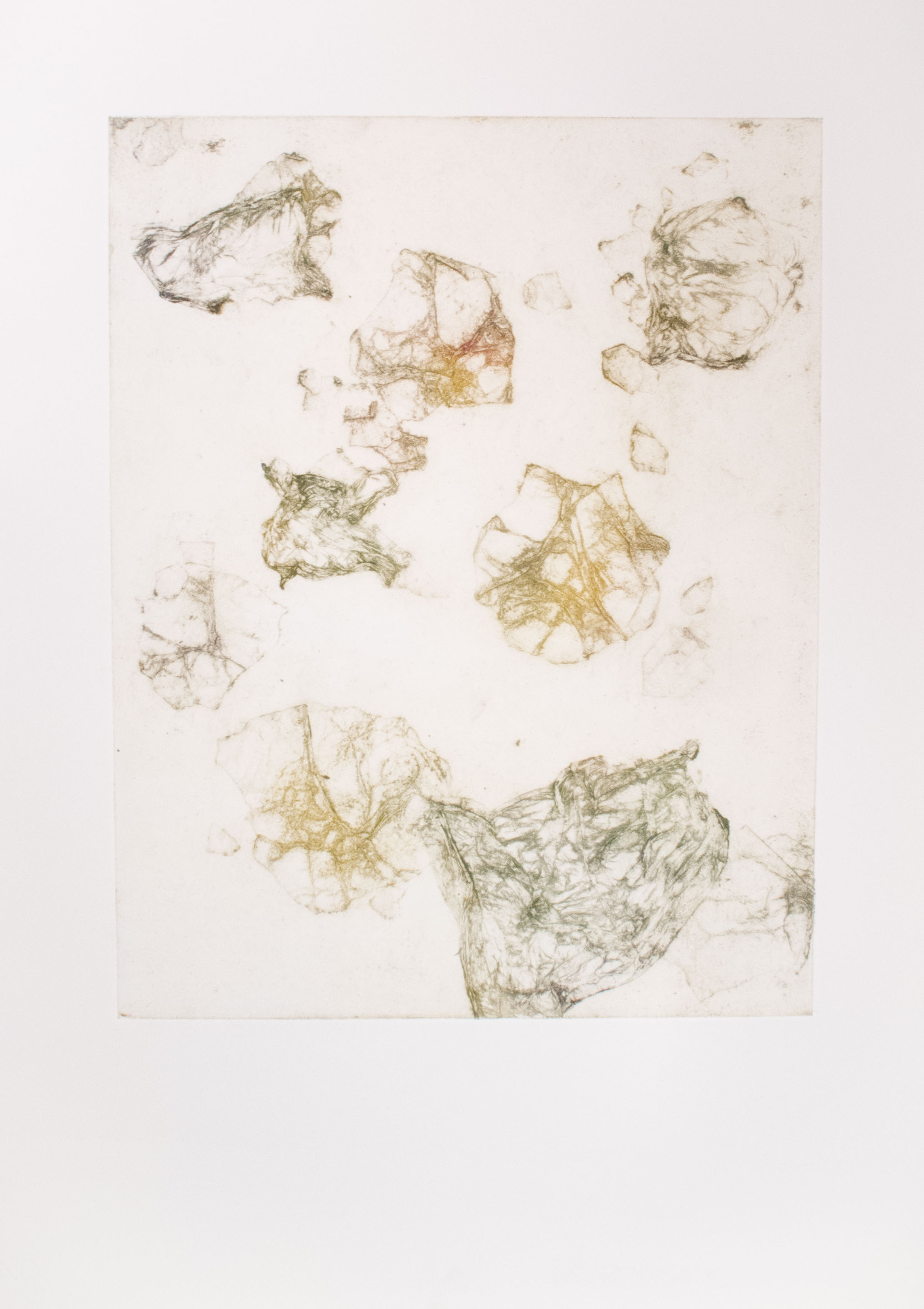 Iron, Flint, and Bronze collagraph monoprint 30 x 24 inches ASC 113G
