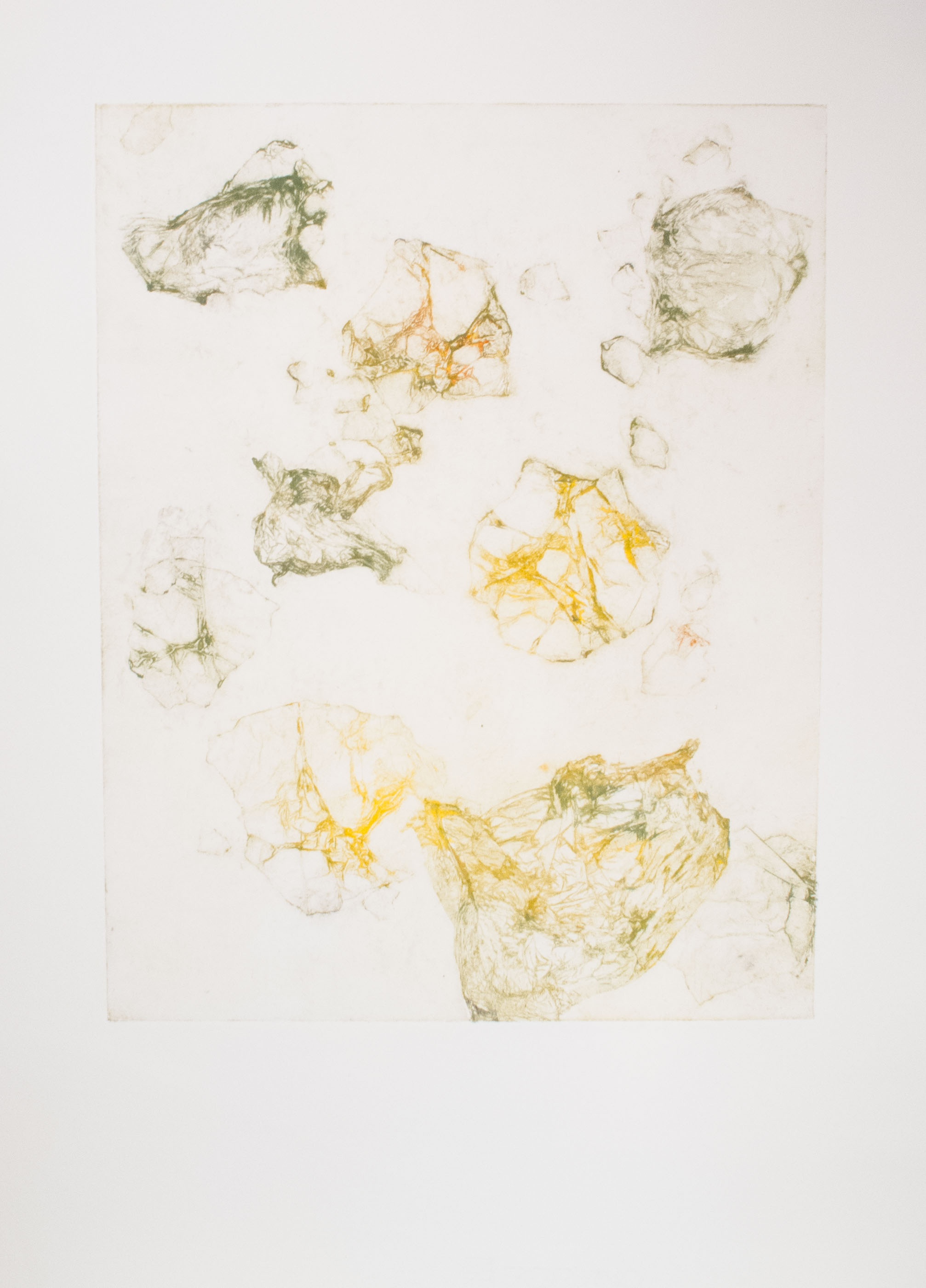 Meandering collagraph monoprint 30 x 24 inches ASC 115G