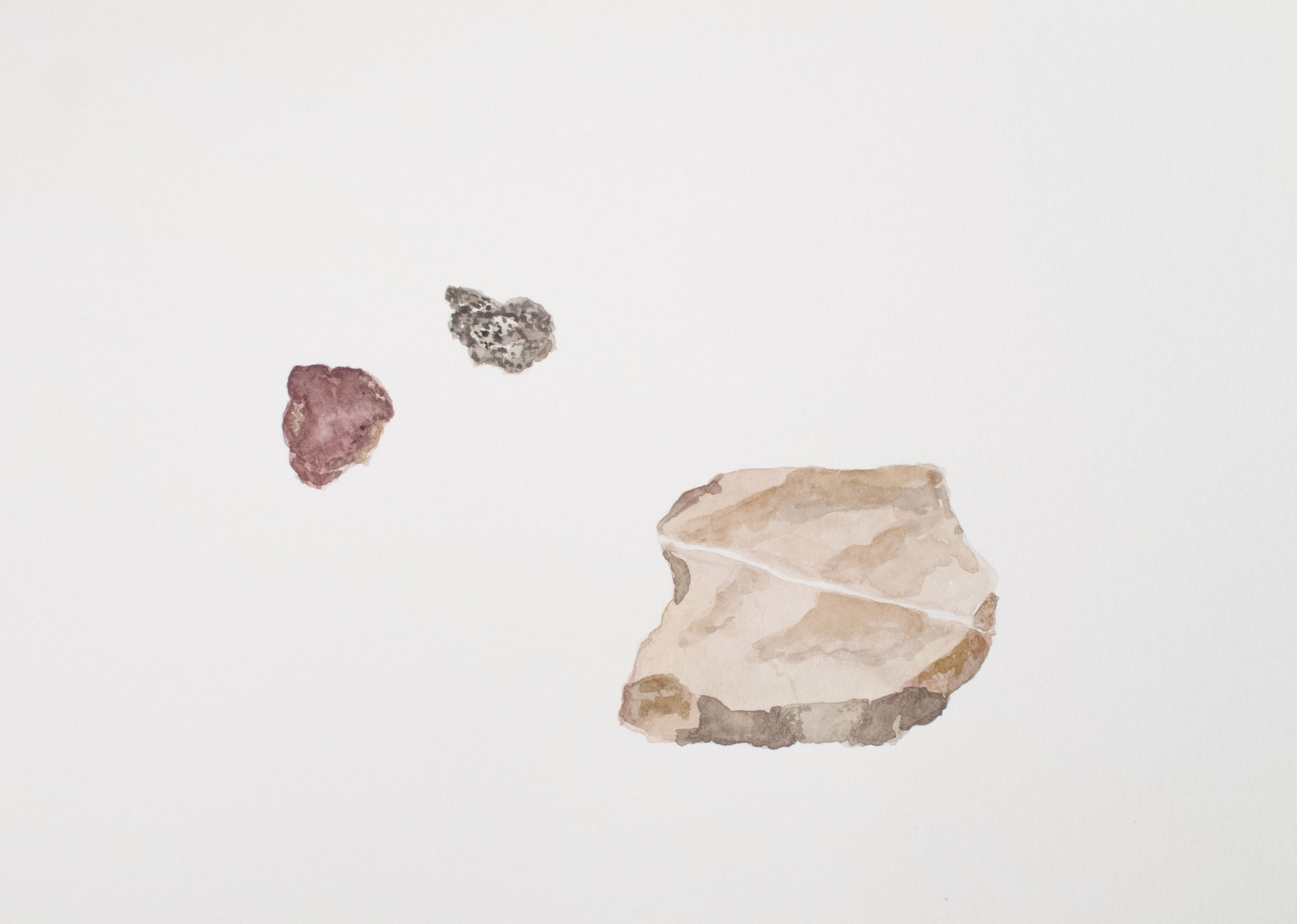 A Slice of Stone watercolor 16 x 20 inches ASC 129G