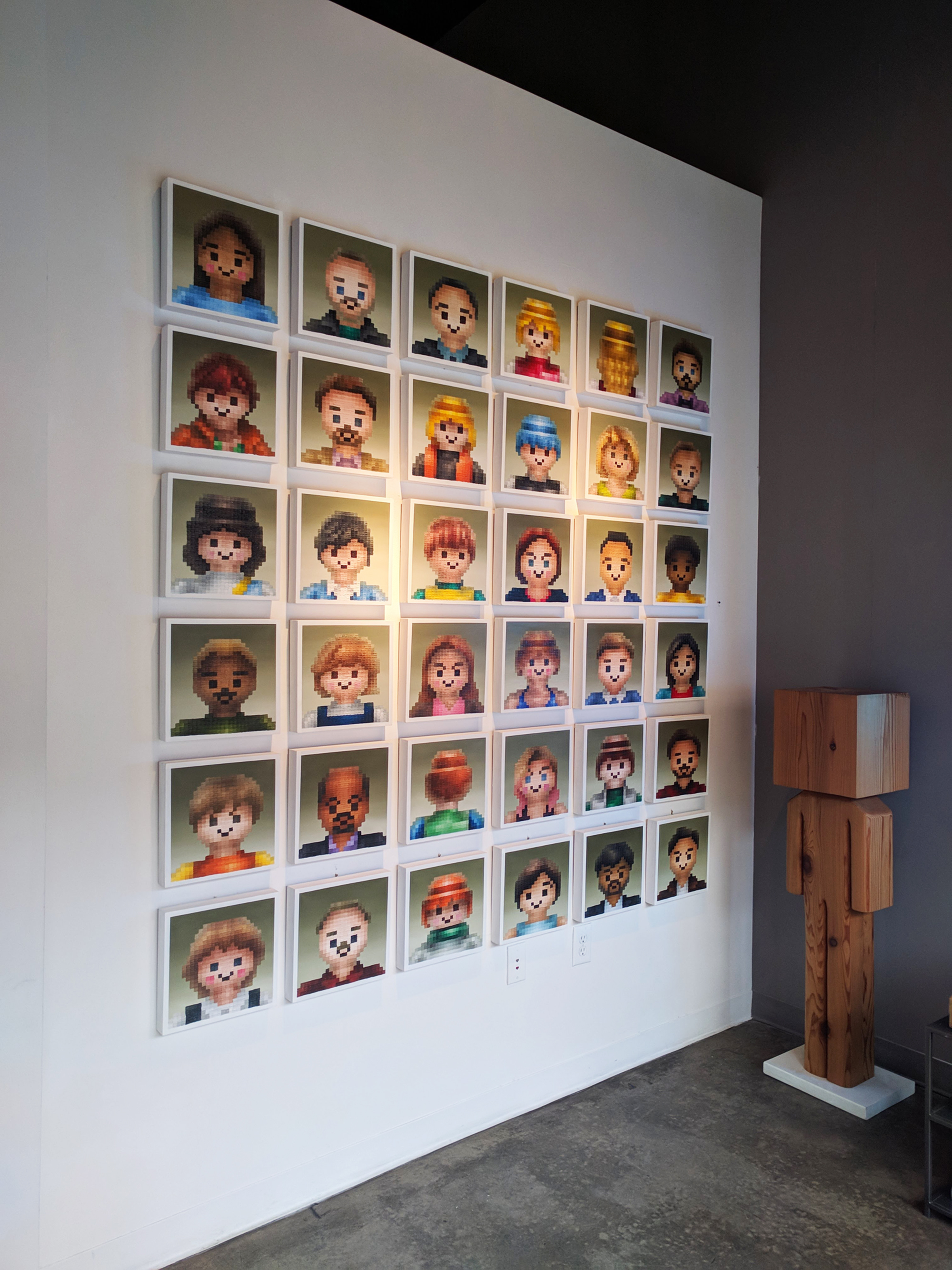 Inkyeong Baek Playmobils 22 oil on wood panel 11 x 11 inches IBA 002G