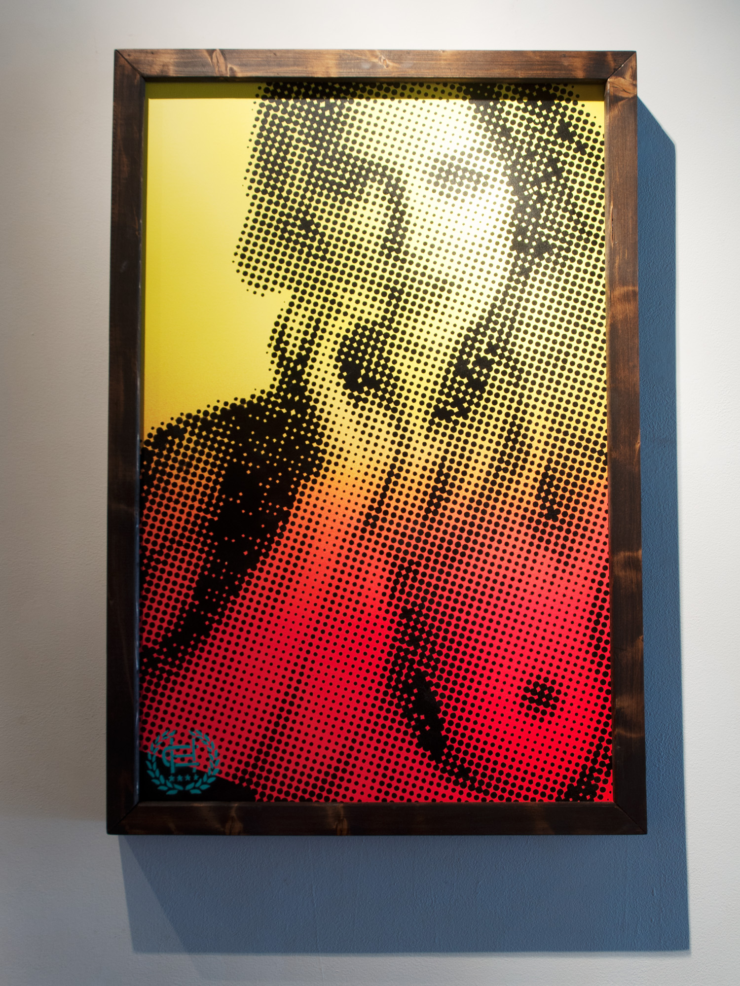 Chris Hobe Look Into My Eyes spraypaint & handcut stencil on canvas 24 x 36 inches CHO 016G