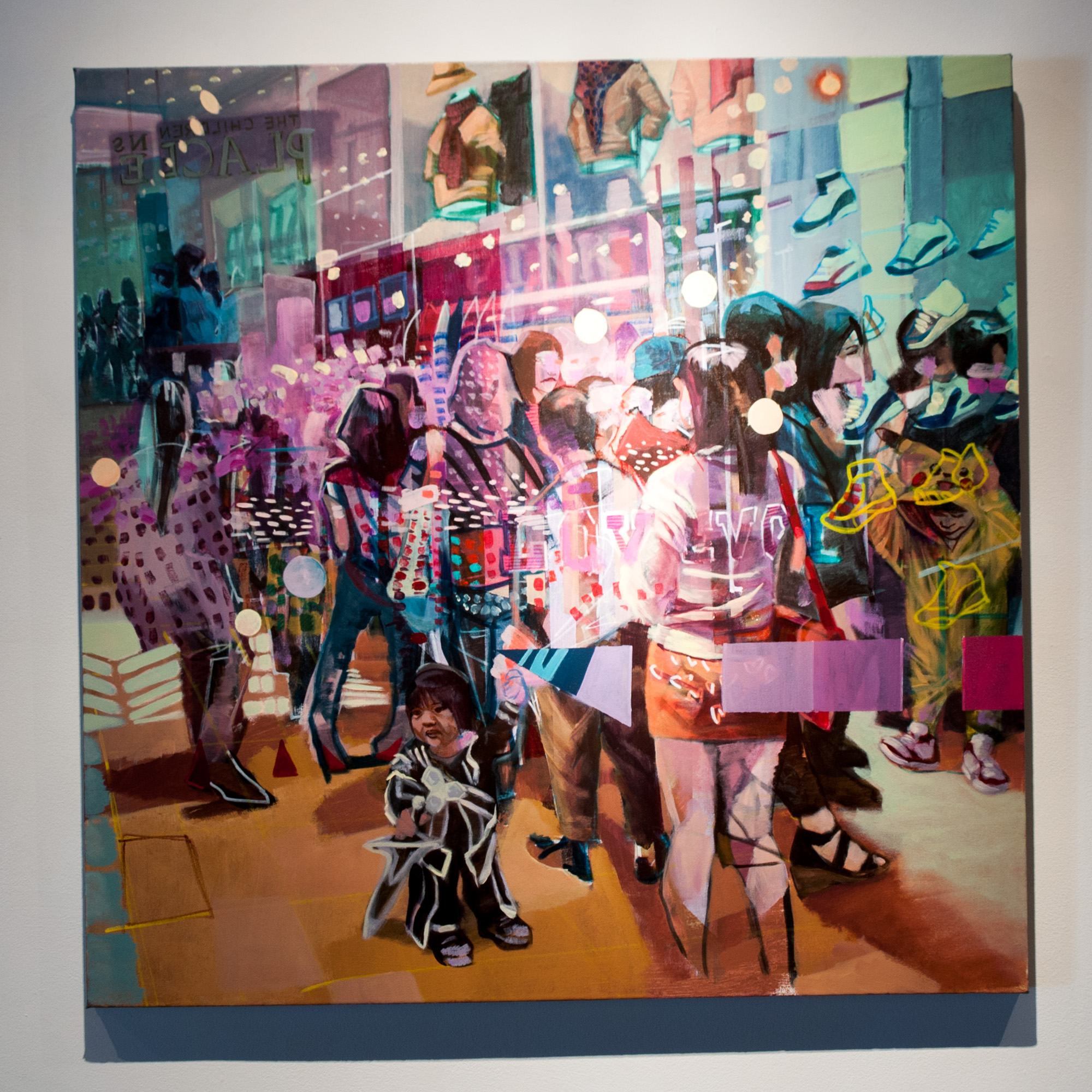 Dustin Lee Massey For the Love of Shoes acrylic on canvas 36 x 36 inches DLM 001G