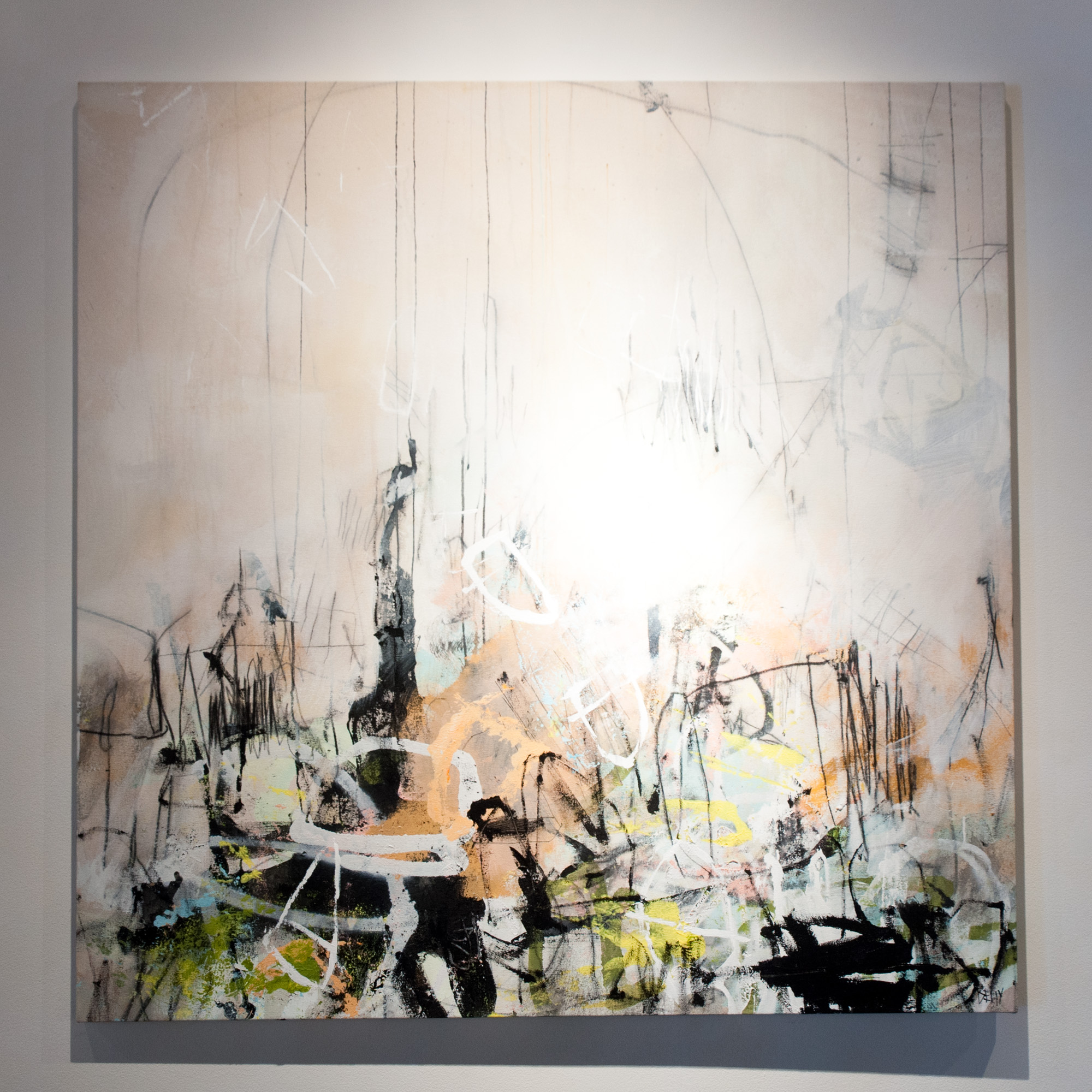 Lauren Betty Chaos and Calm II mixed media on canvas 49 x 49 inches LBE 001G