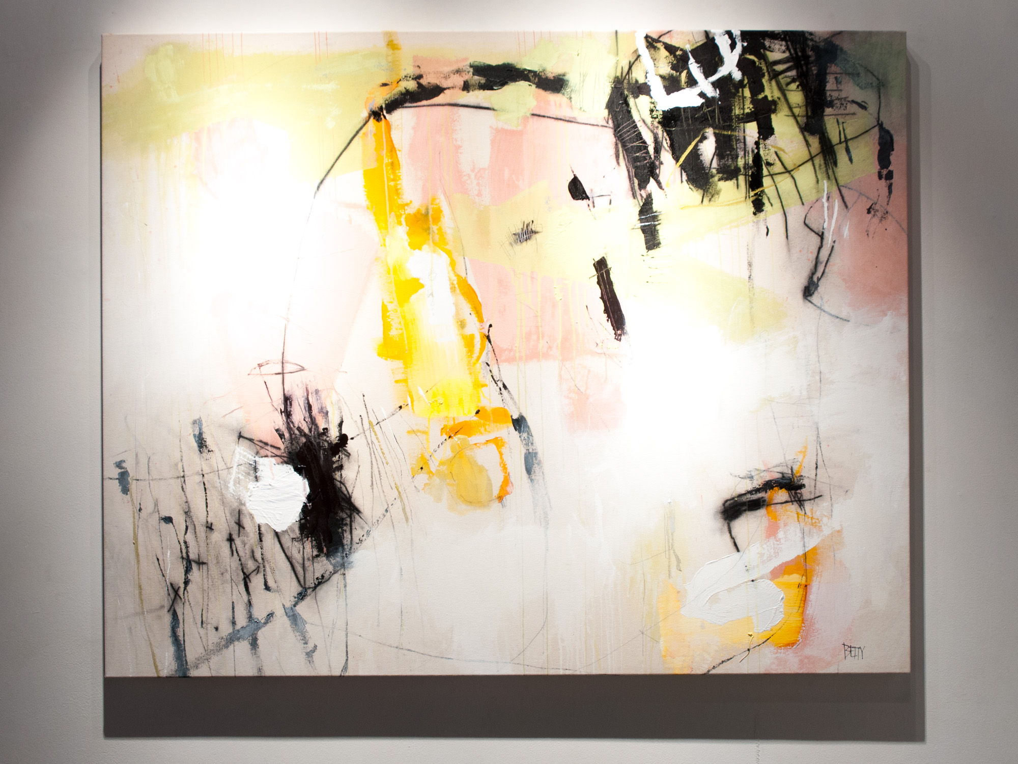 Lauren Betty Recline mixed media on canvas 50 x 62 inches LBE 002G