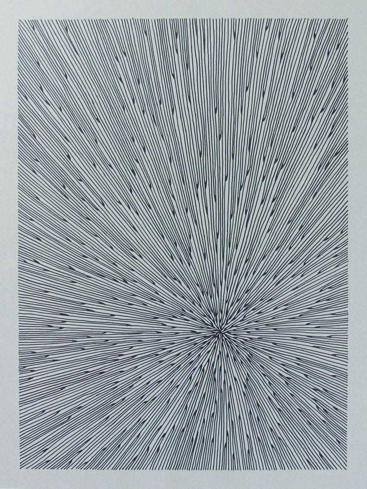 Faye Bell   Seafan 21 , Marker on paper, 18x24