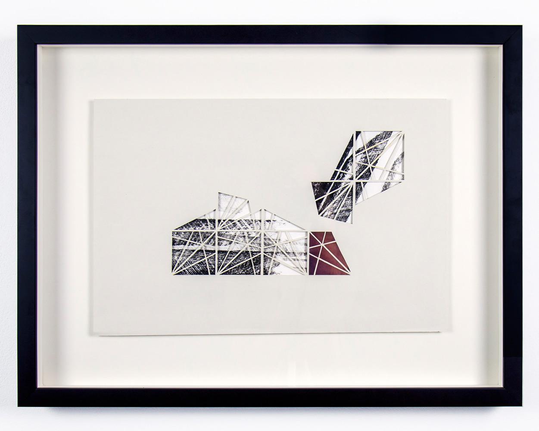 Samantha Burns   Somewhere Over the Rainbow , Monoprint: laser cut relief print,12x18in