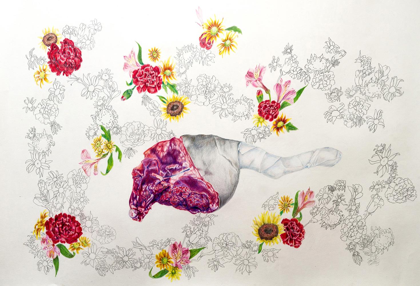 Jennifer Cantley   Wallpaper , Colored Pencil, 40x27