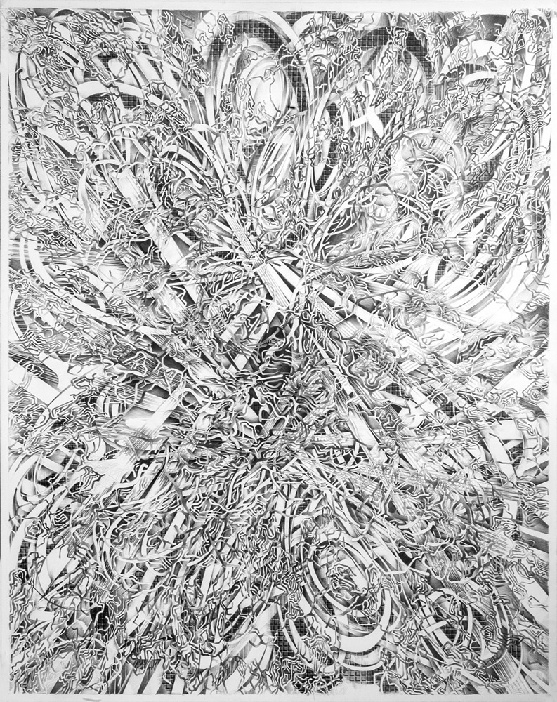 Valentina Custer   O'Roark   Zaplata I  / An Immigrant Handbook / Patch The Void, pencil on vellum, 23 x 29 in