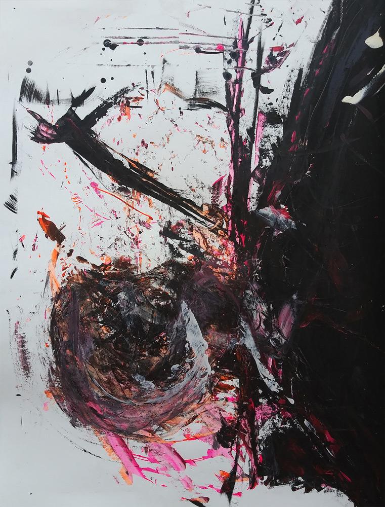Dan Dixon   Untitled, #4 , 2018, acrylic on paper, 22 x 30
