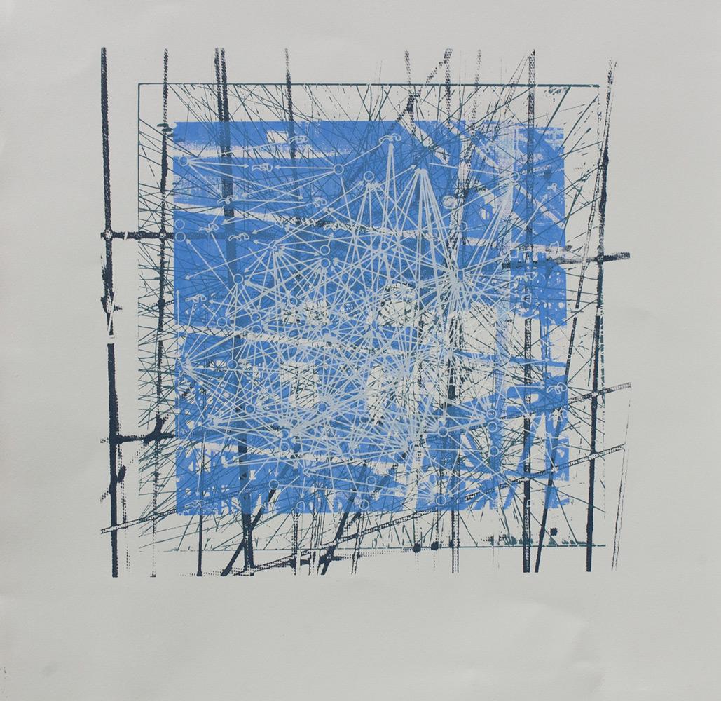 Sabre Esler   Calculations  silkscreen 16 x 15 in