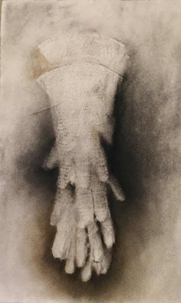 """Andrea Garland   'Lineage' , charcoal and pastel on embossed paper, 18""""x24"""""""