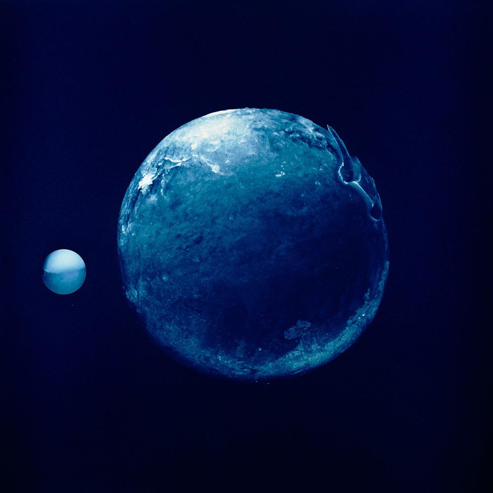 "Casey McGuire and Mark Schoon  Gas Giant, 2017, Cyanotype, Framed prints - 23 x 29"""