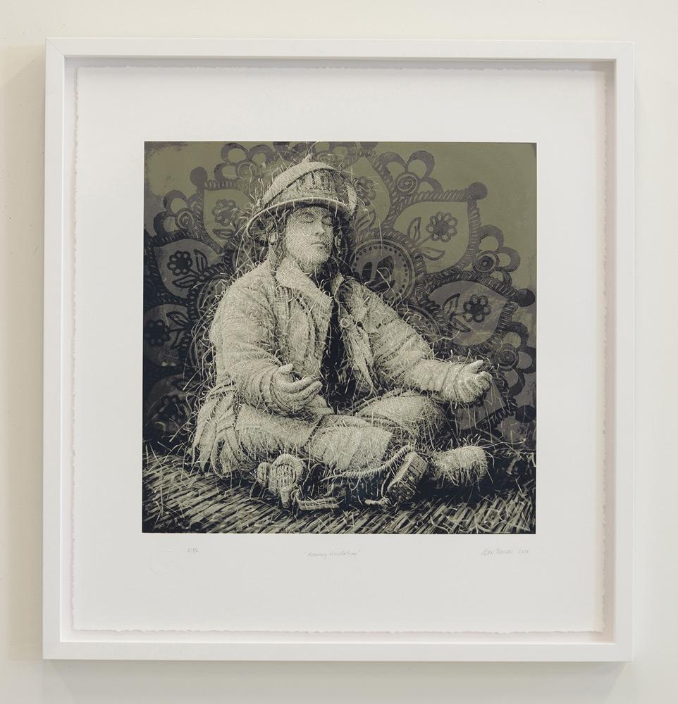 "Alexi Torres   Morning Meditation , Serigraphy, 32"" x 30"""