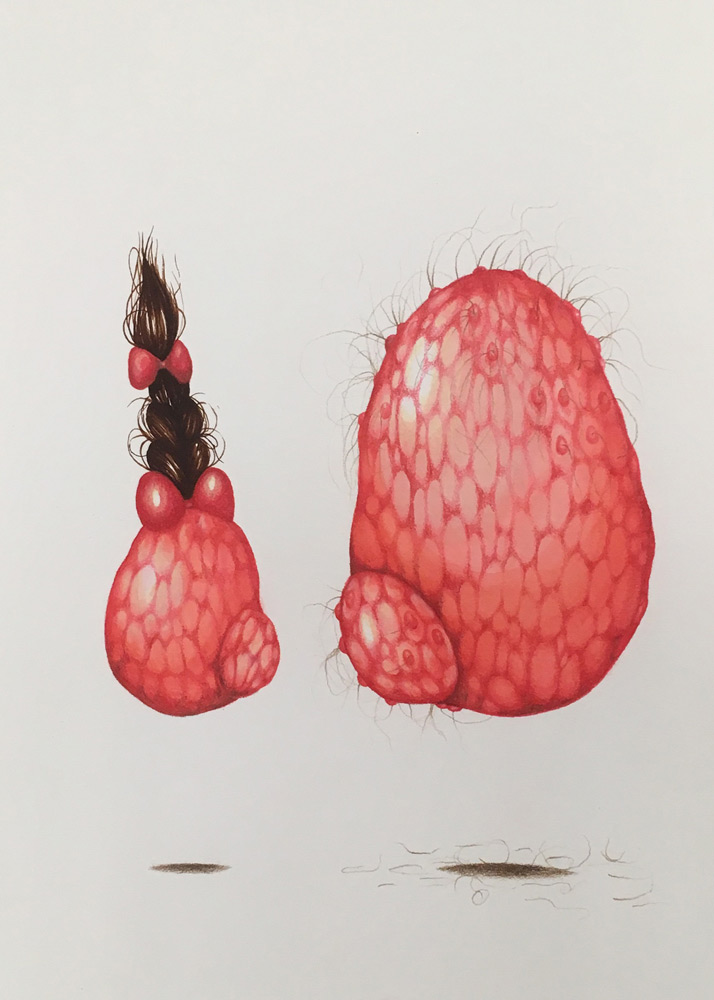Anne Marie Williams   Pip Squeak , Marker, Watercolor, Colored Pencil, 9x12 inches
